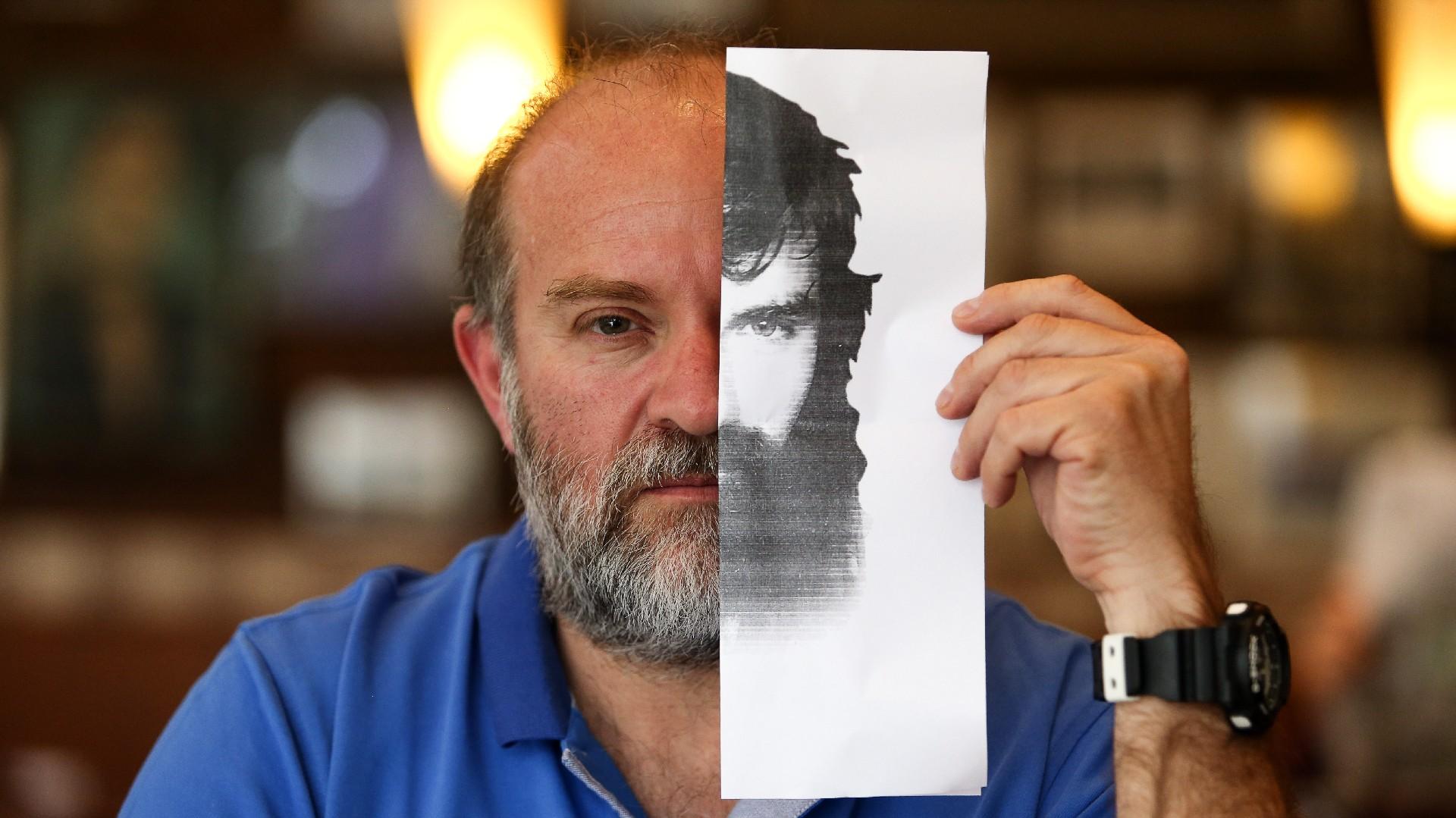 Sergio Maldonado y el retrato de su hermano (Nicolás Aboaf)