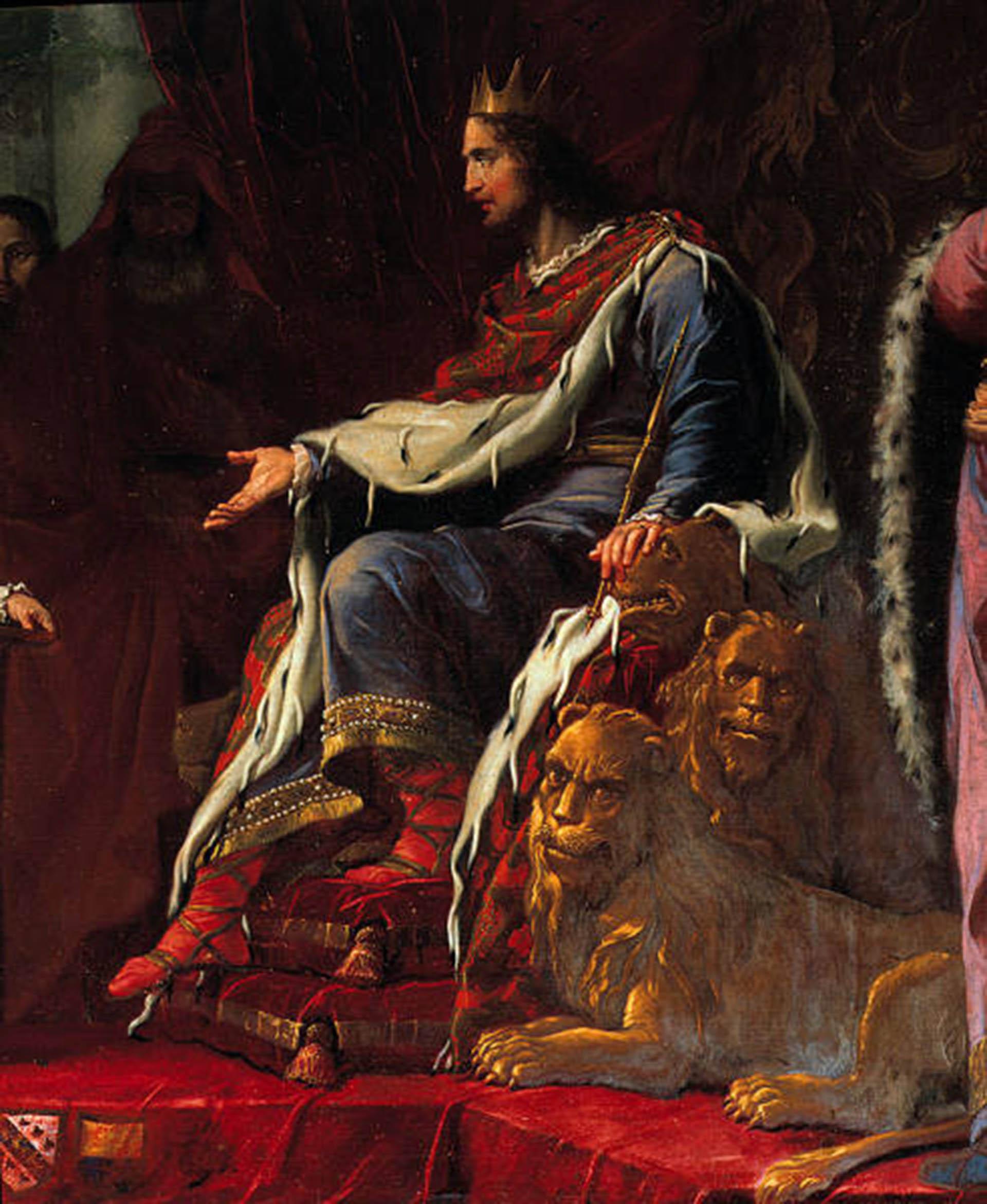 """Giambattista Tiepolo, 1696-1770. """"El rey Salomón y la reina de Saba""""."""