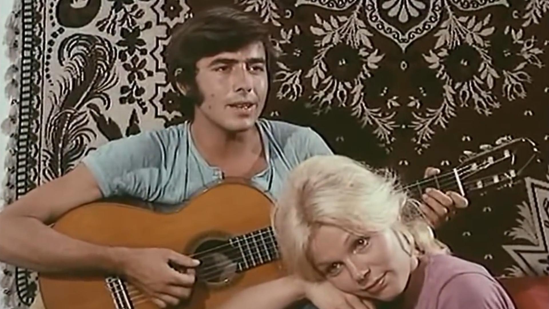 Serrat junto a Linda Cole, en una película de 1969