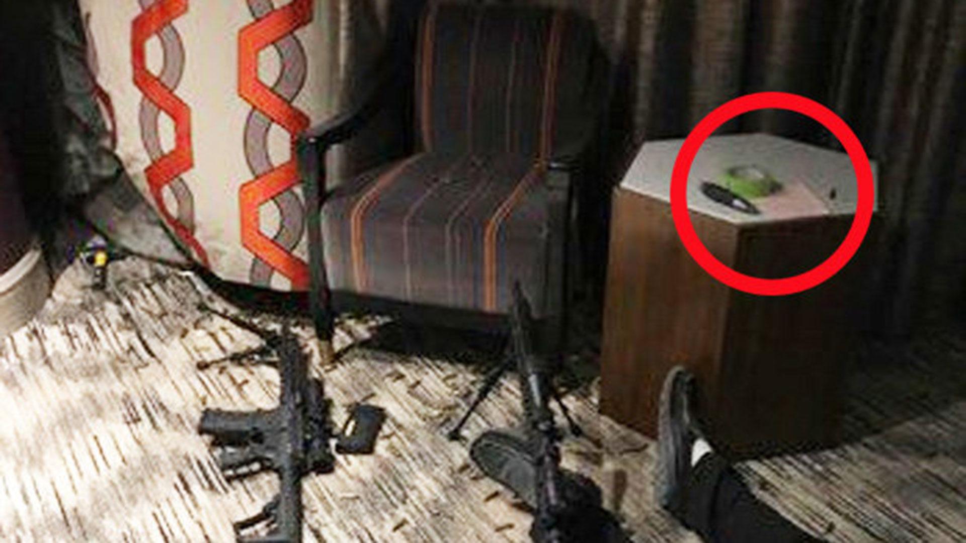 La nota que el tirador tenía junto a él en la habitación desde donde disparó