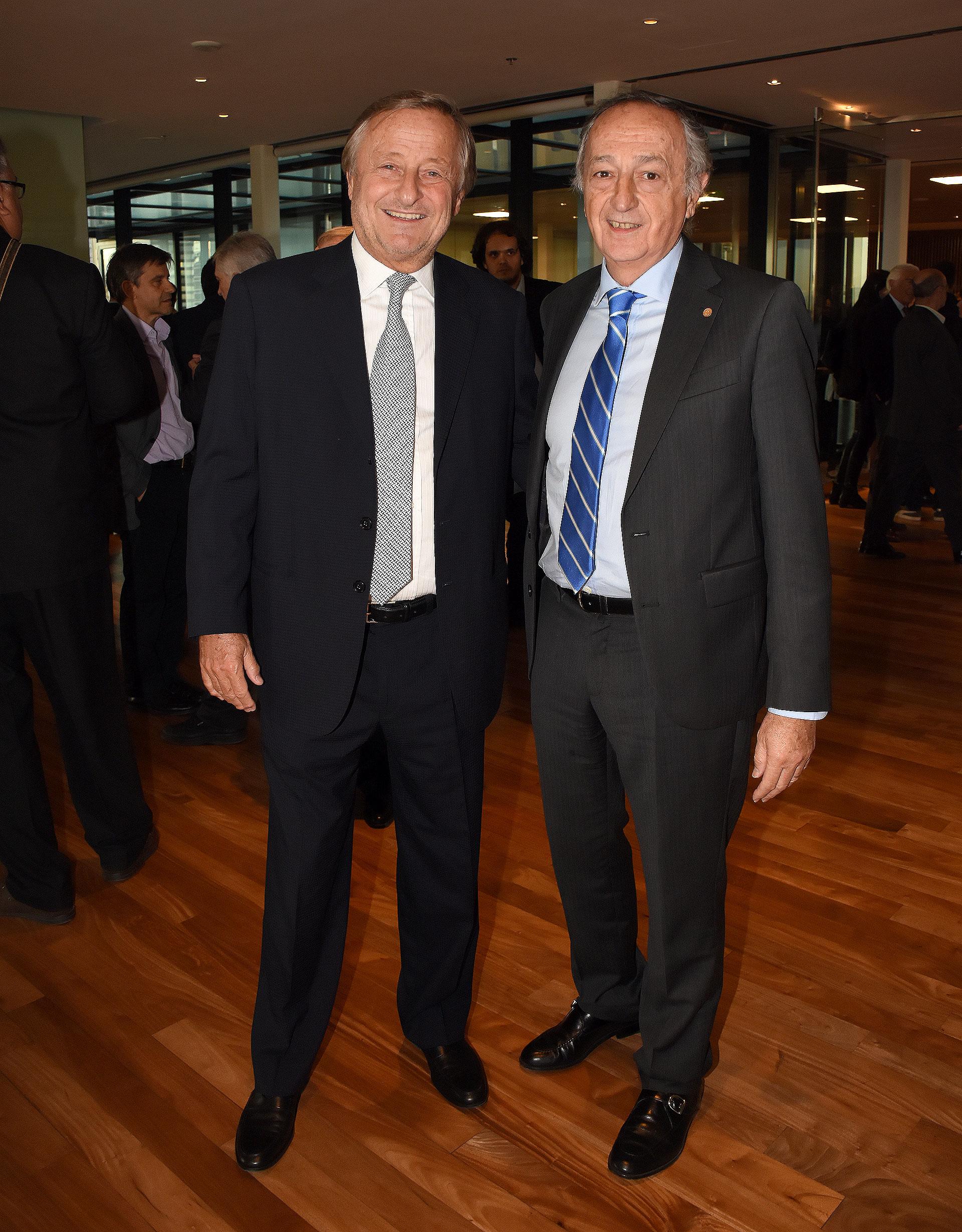 Cristiano Rattazzi, presidente de Fiat Argentina, junto a Miguel Acevedo, presidente de la Unión Industrial Argentina (UIA)