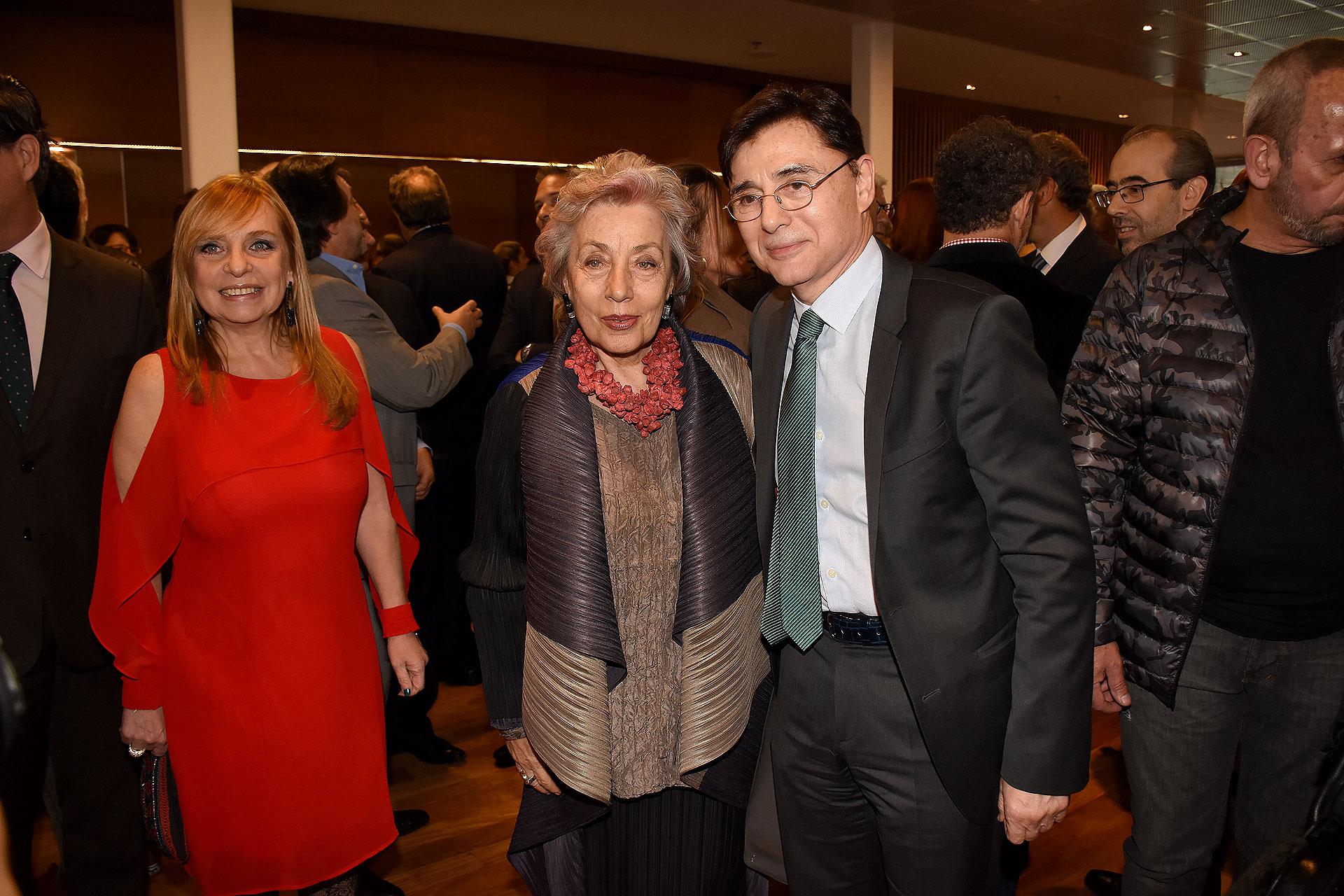 María José Lubertino, Norma Morandini (directora del Observatorio de Derechos Humanos del Senado) y Jorge Fontevecchia