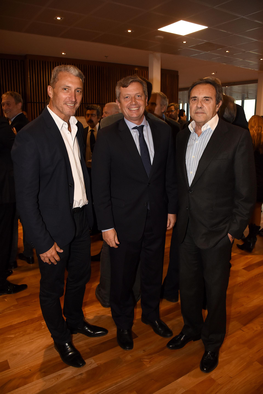 José Scioli, Emilio Monzó y Jorge Sánchez Córdova