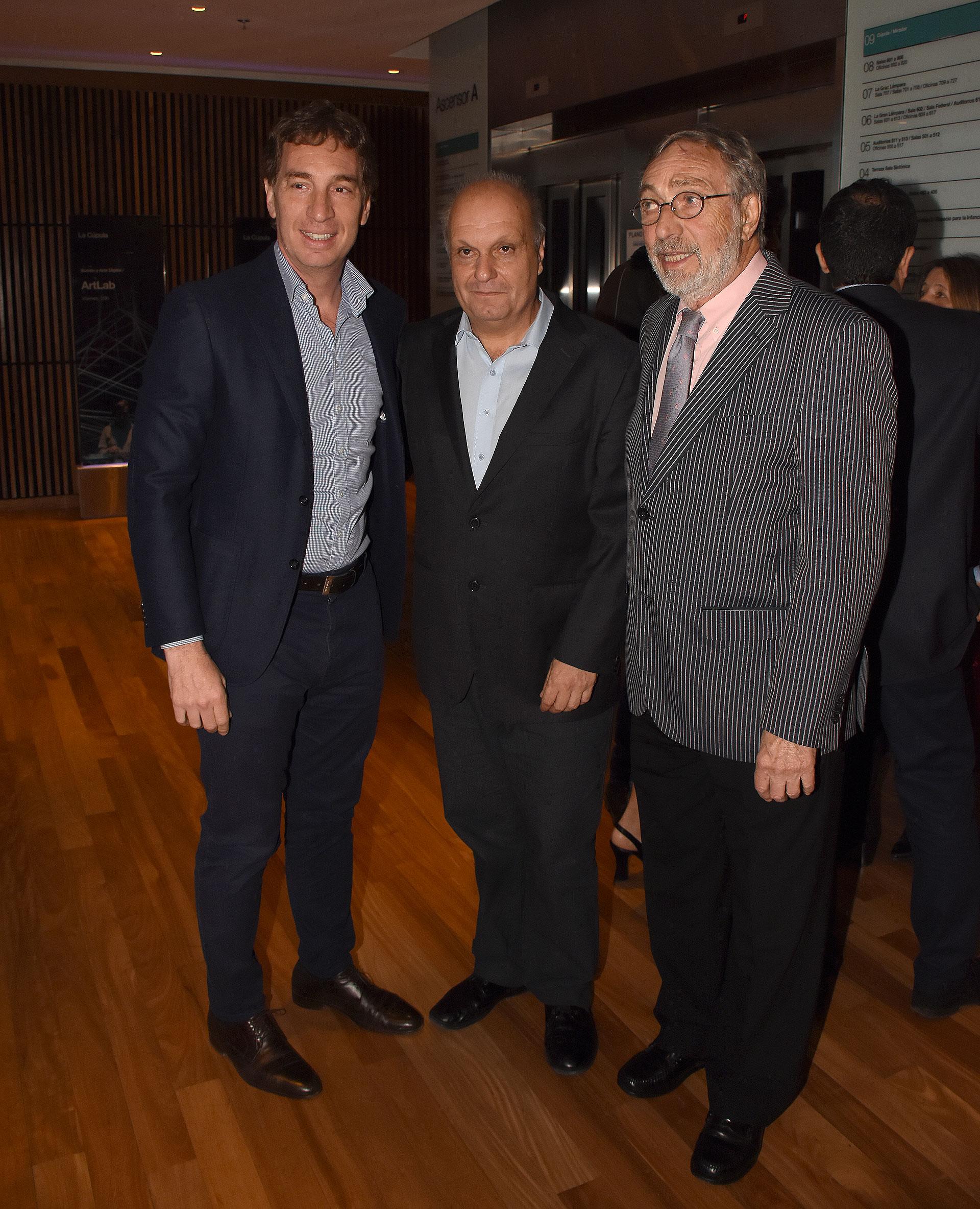 Diego Santilli, Hernán Lombardi y Luis Brandoni