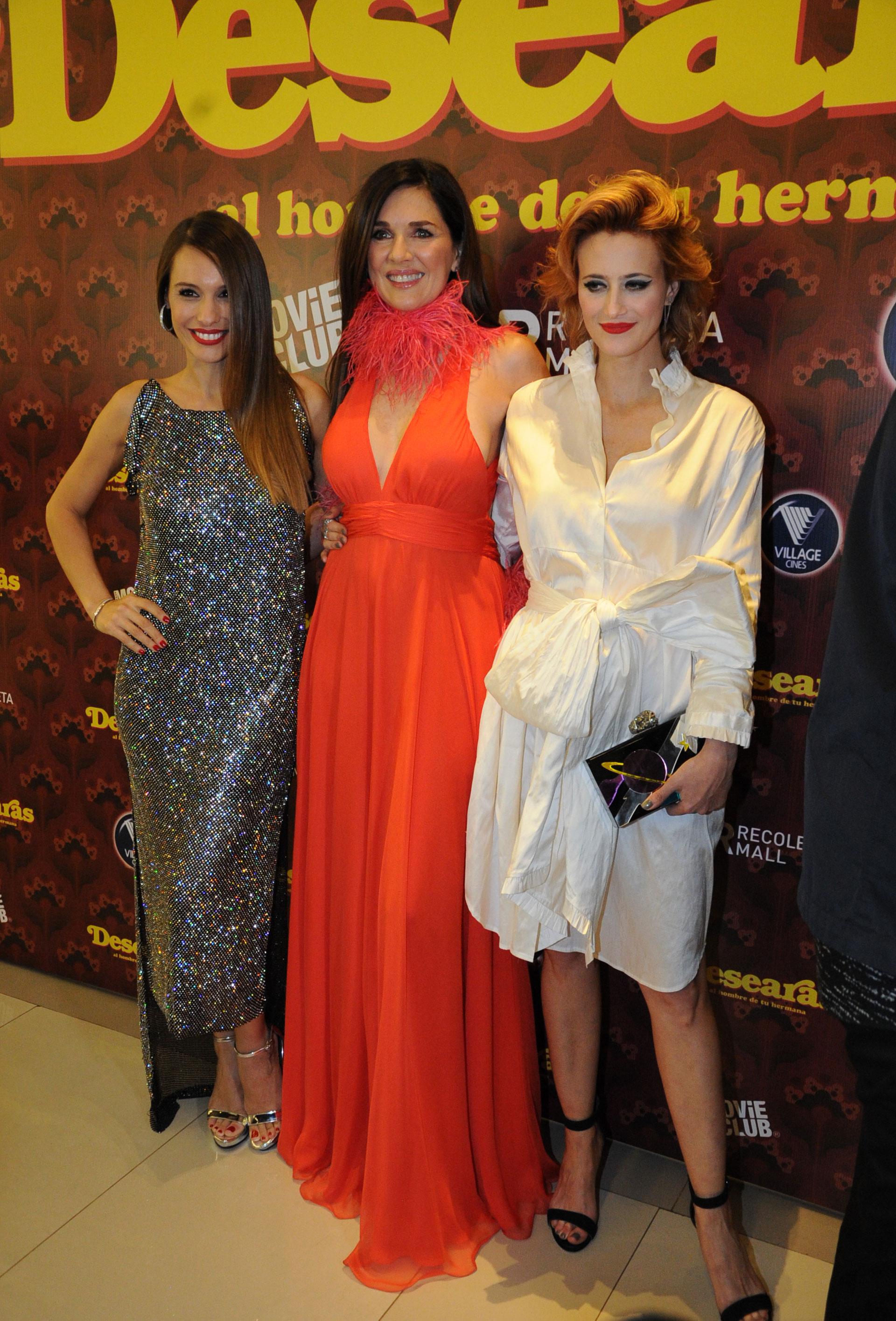 Mónica Antonópulos, Andrea Frigerio y Pampita Ardohain