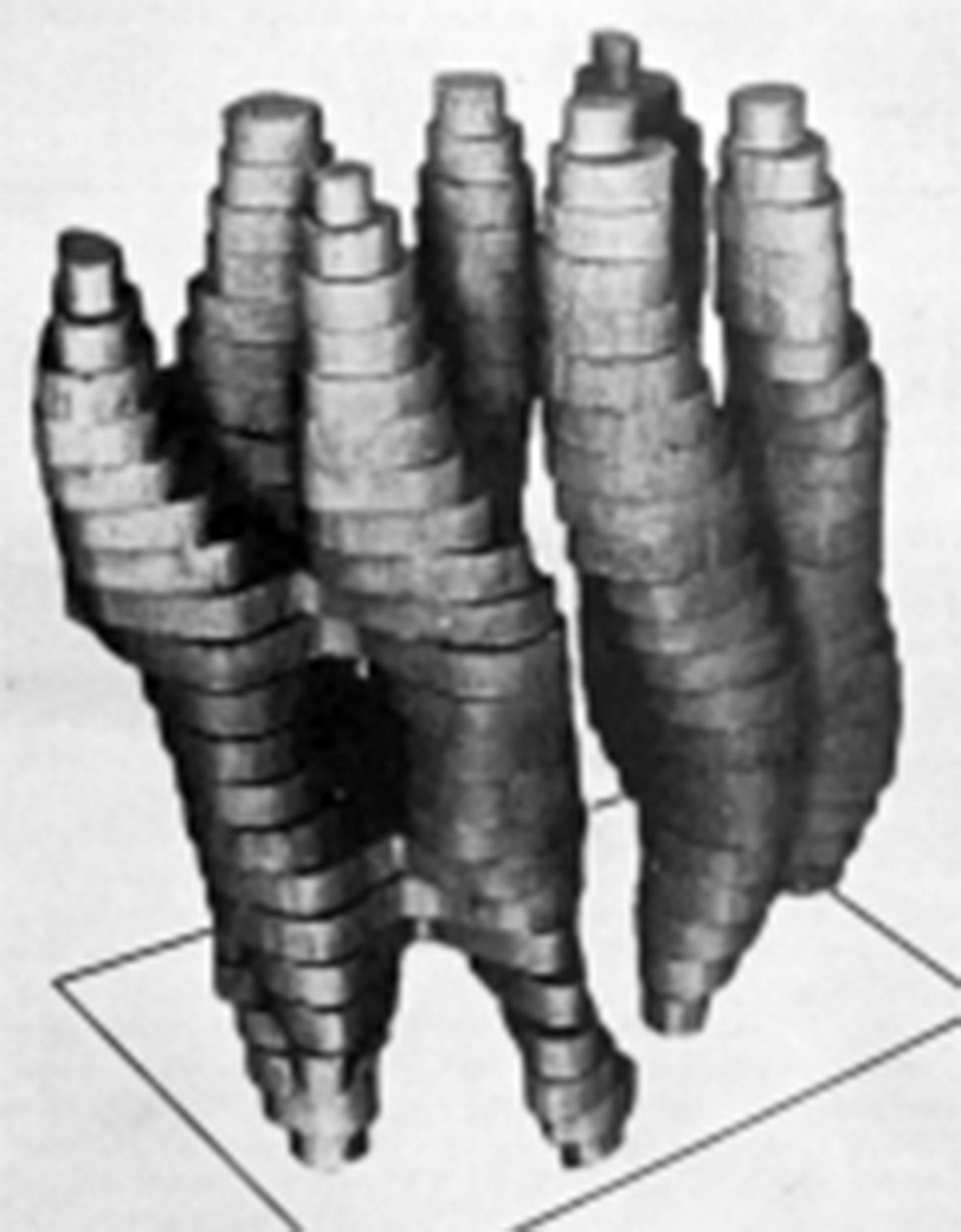 El primer modelo de bacteriorhodopsin, publicado en 1975 por Henderson