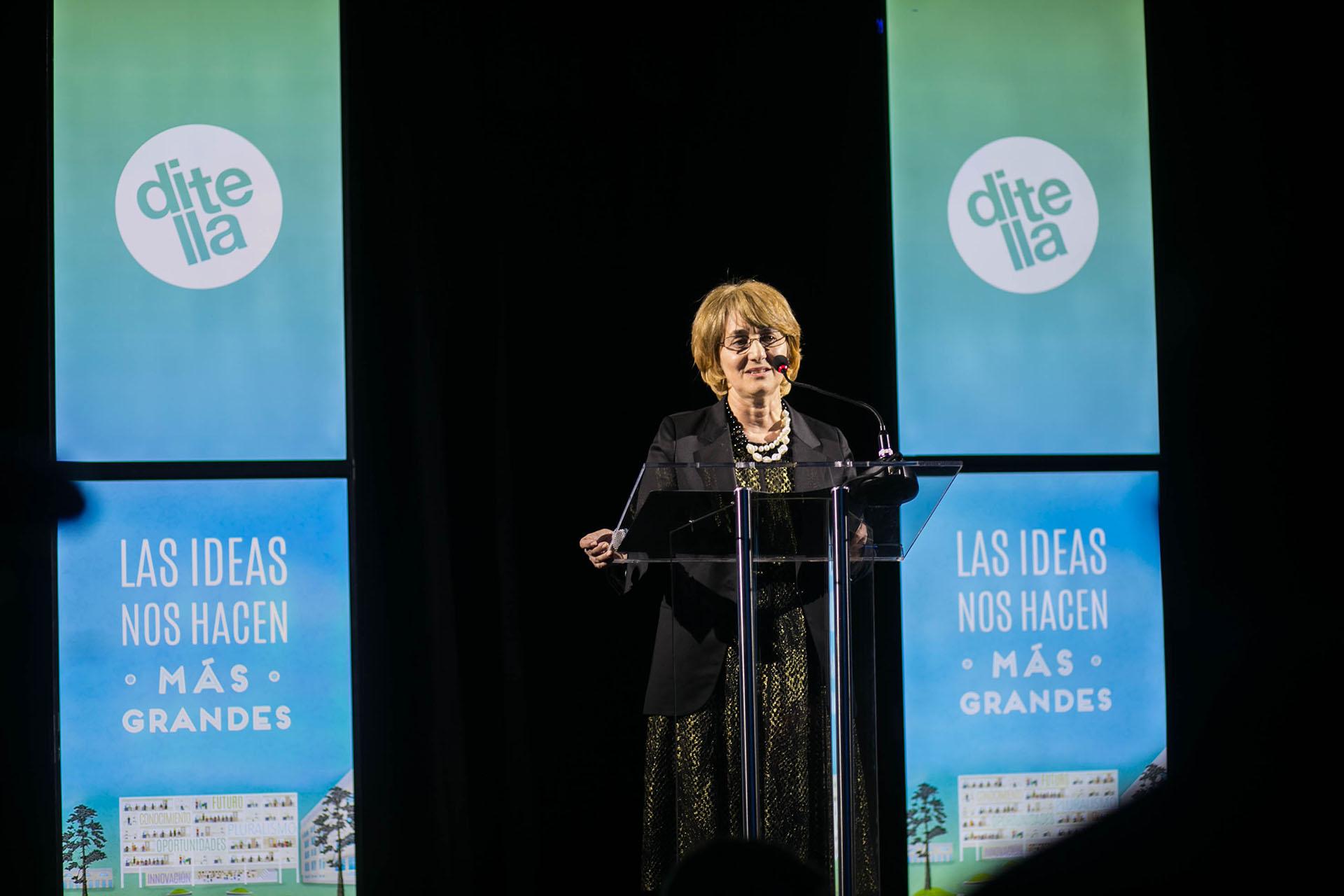El discurso de la presidente del Consejo de Dirección, Graciela Cairoli