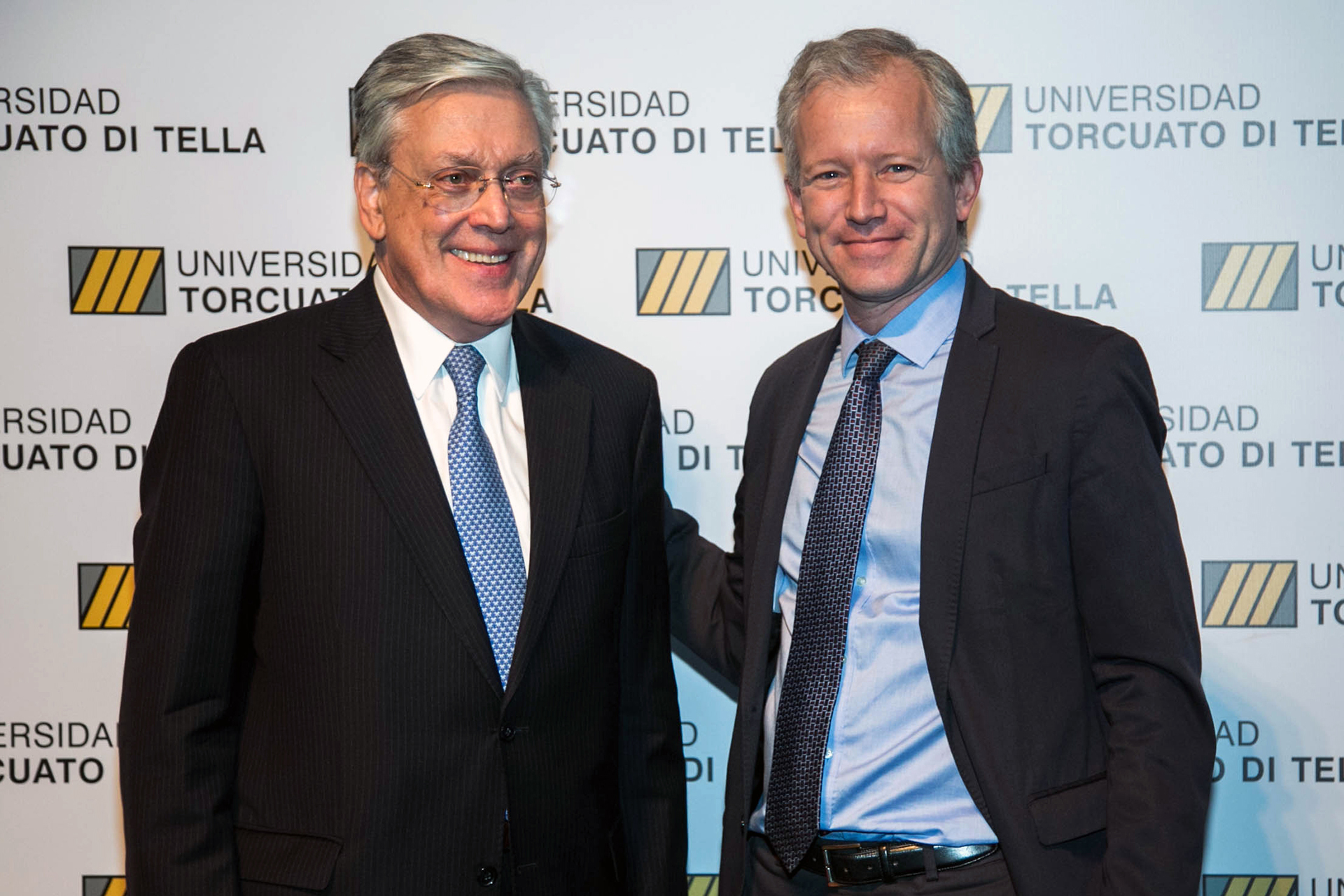 El rector Schargrodsky y el presidente del Banco Galicia, Sergio Grinenco