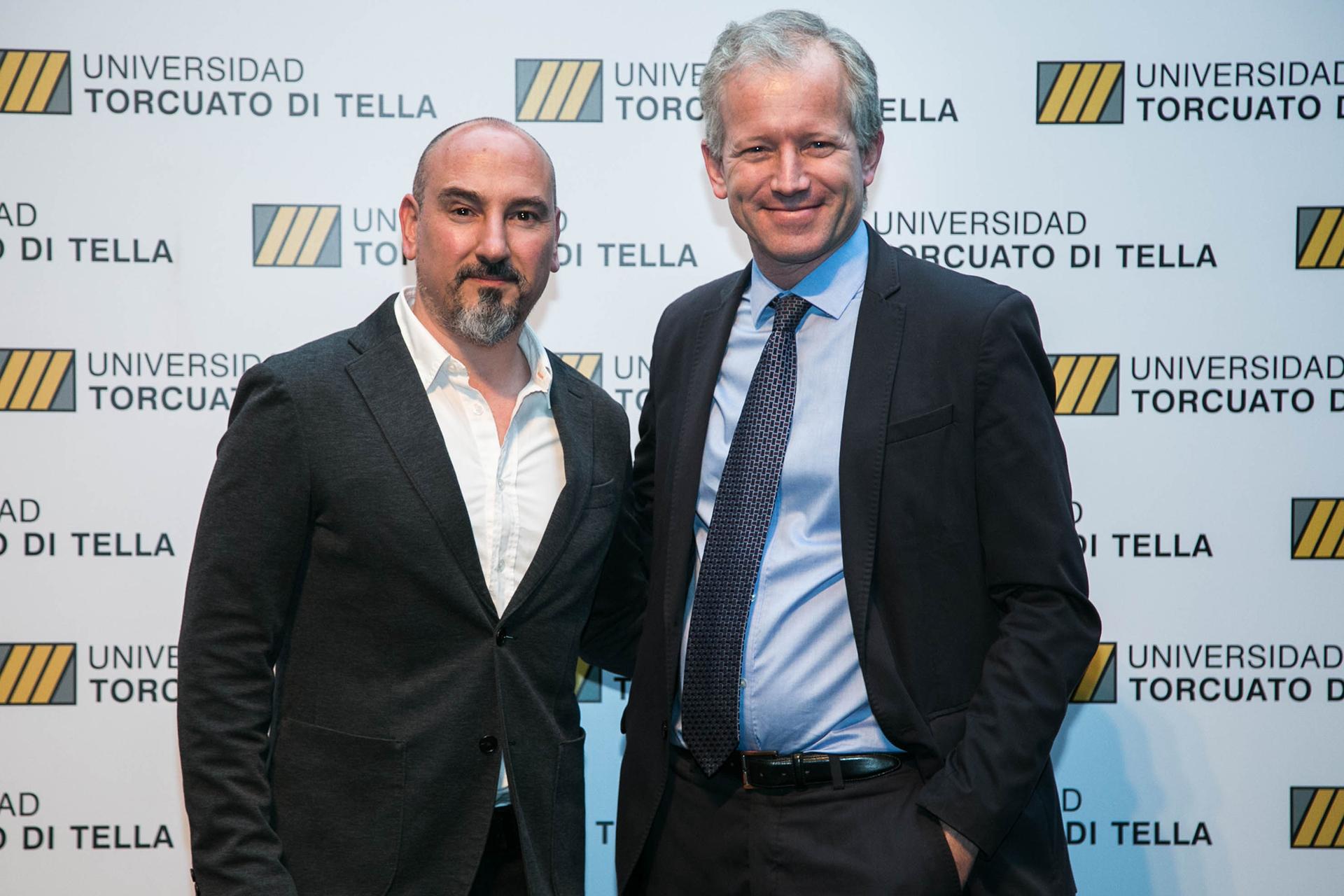 Schargrodsky y Josep Ferrando, arquitecto español ganador del concurso para la construcción del nuevo edificio de la Universidad