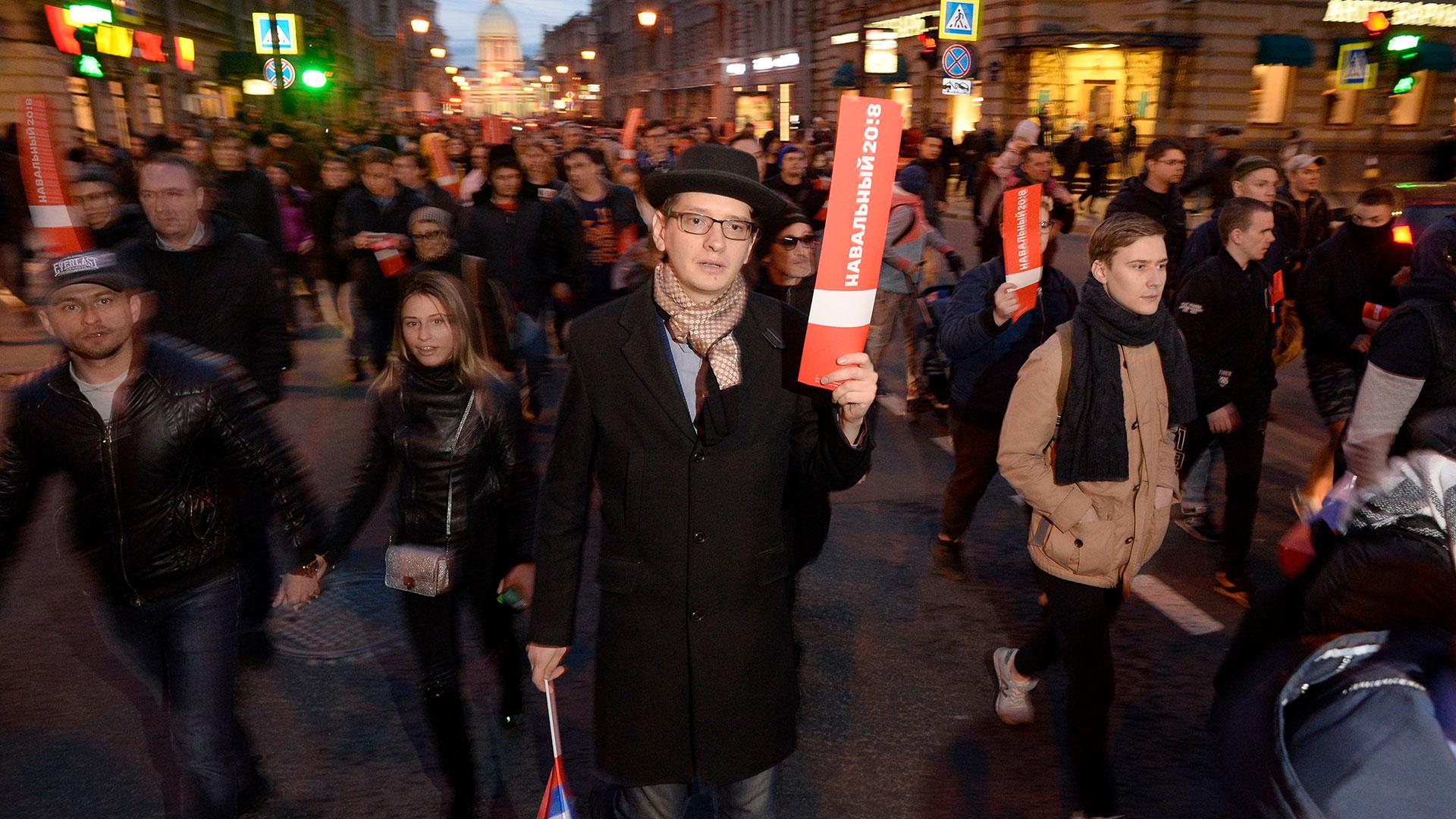 Las manifestaciones contra Vladimir Putin tuvieron lugar en 80 ciudades de Rusia (AFP)
