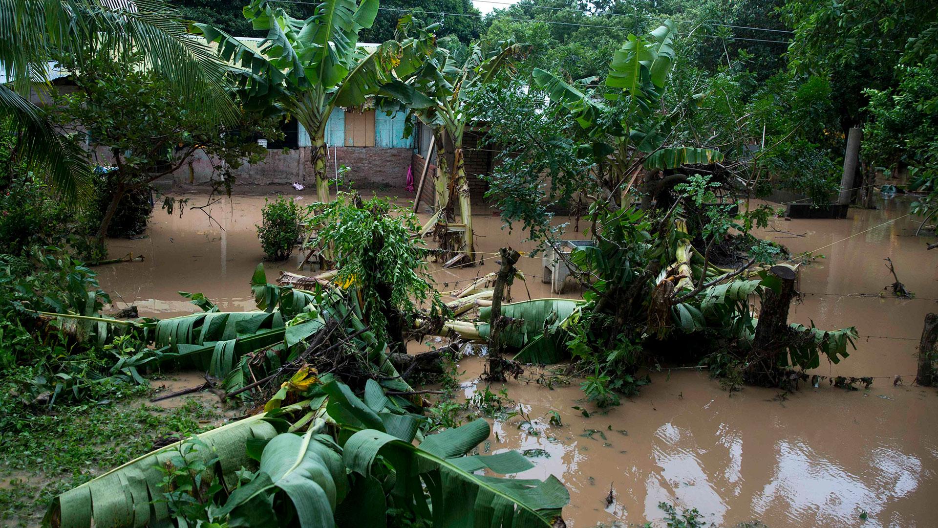 Nicaragua también sufrió daños e inundaciones (EFE)