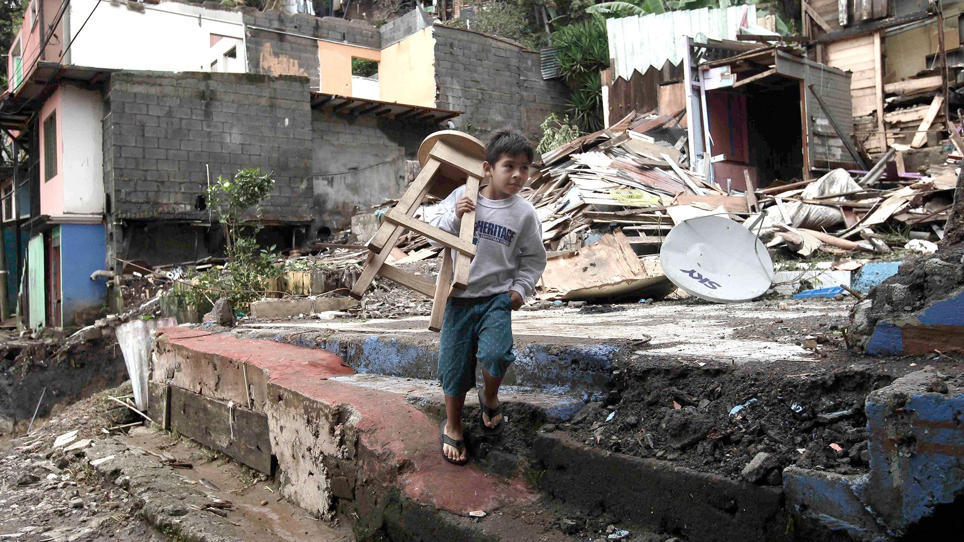 Costa Rica fue uno de los países que más daños sufrió por el huracán Nate (EFE)