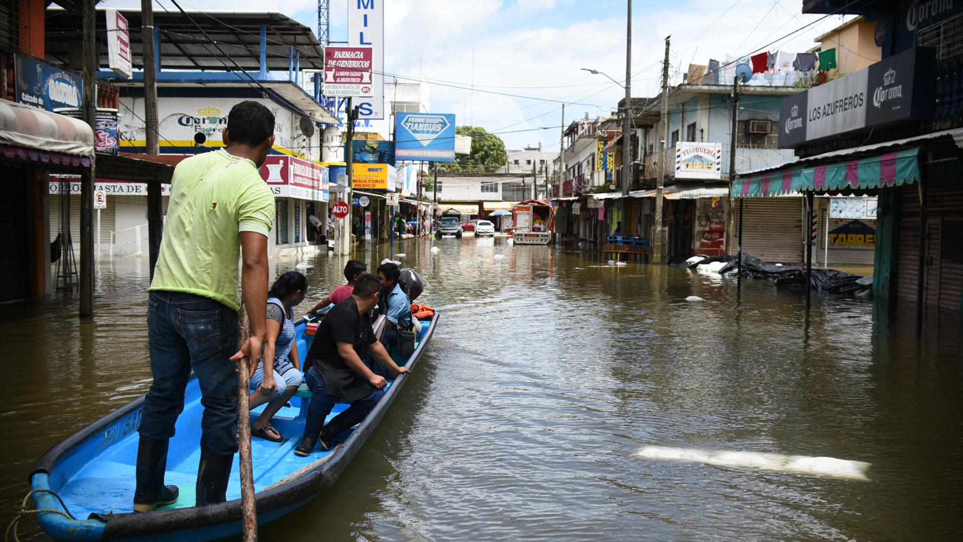 Inundaciones en México tras el paso del huracán (EFE)