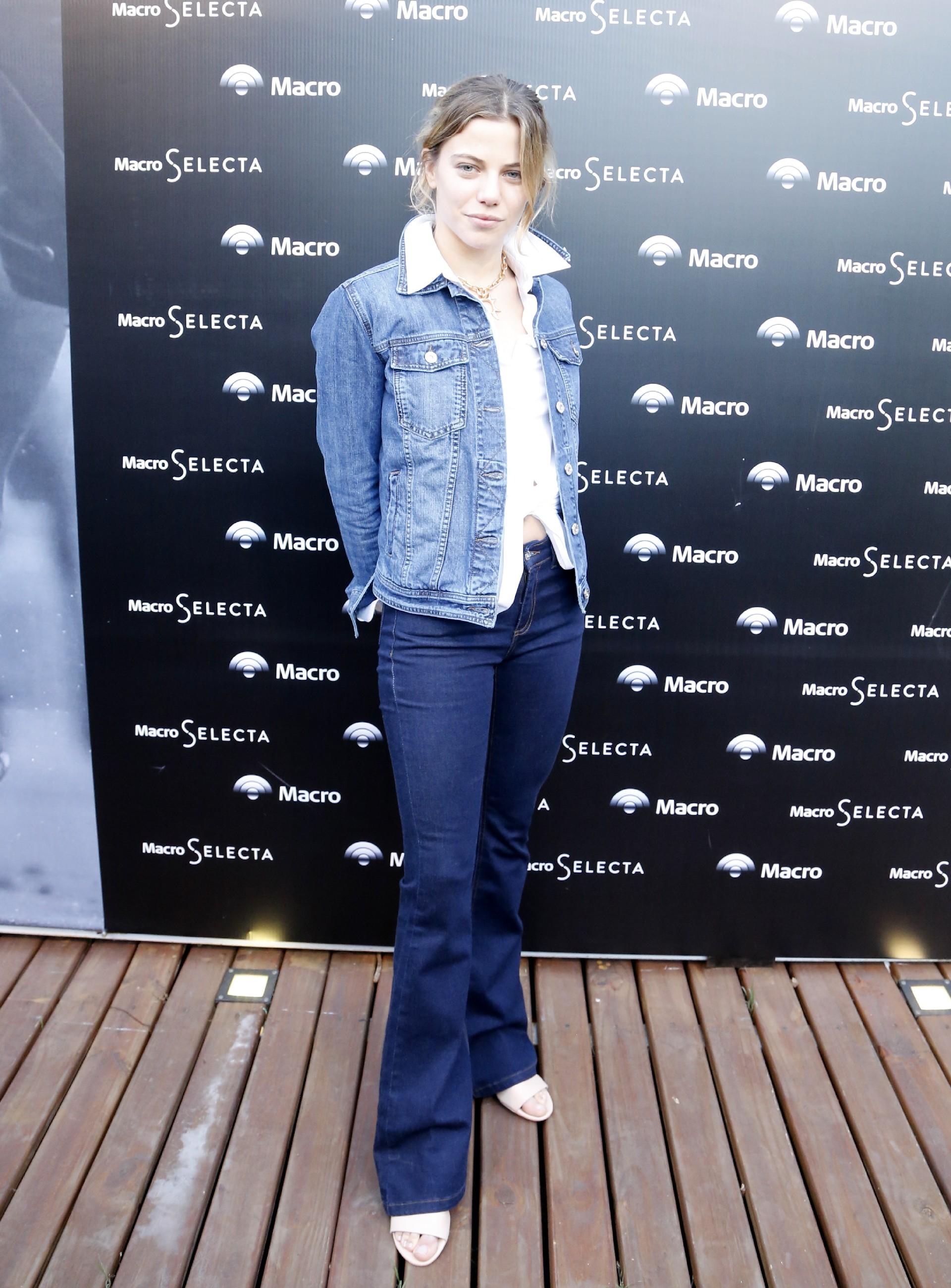 Justina Bustos estuvo entre las invitadas al Gran Premio Banco Macro