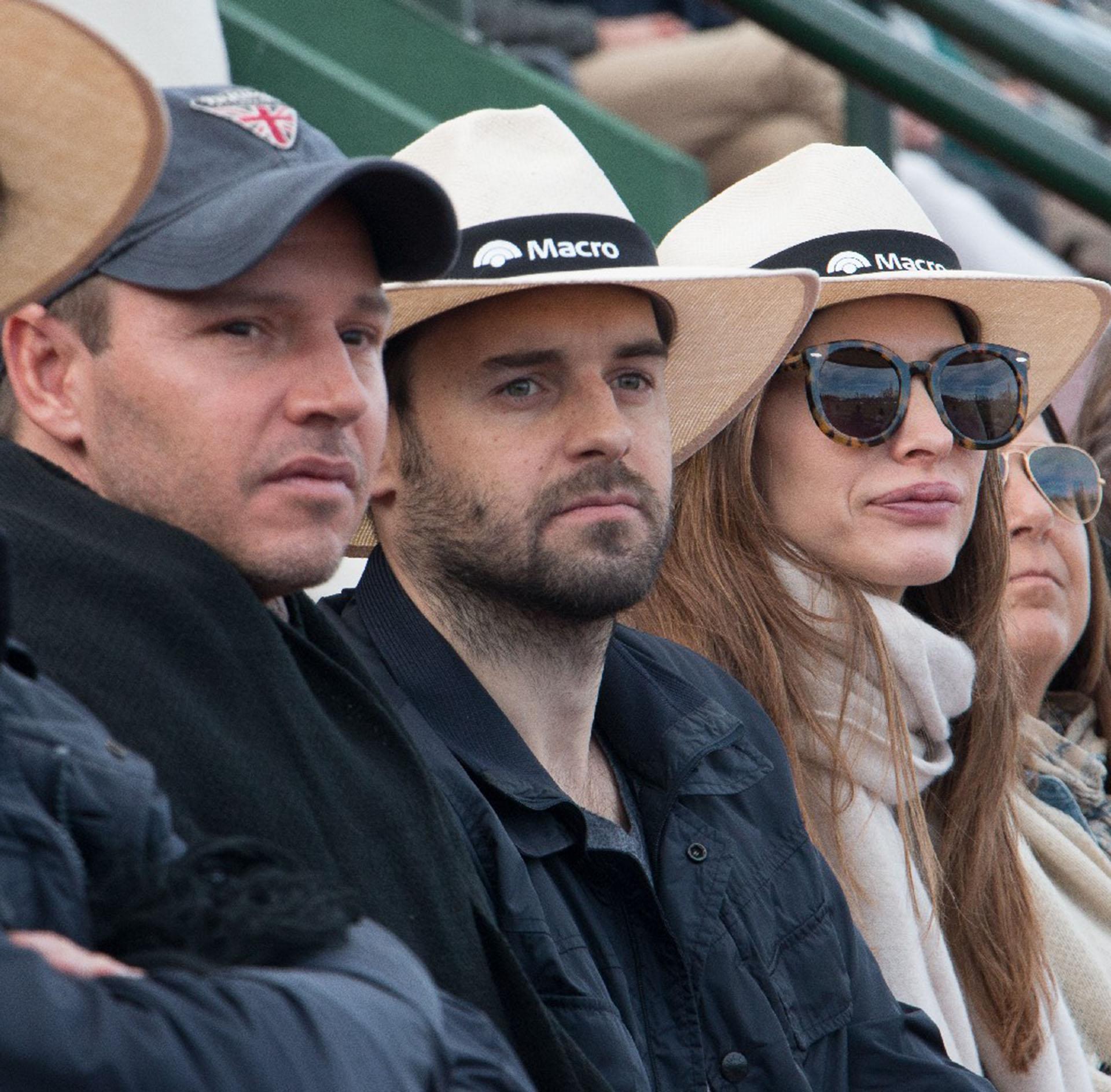 Jorge Brito, director de Banco Macro, observó el partido desde el palco junto a Martín de Alzaga y Andrea Bolatti