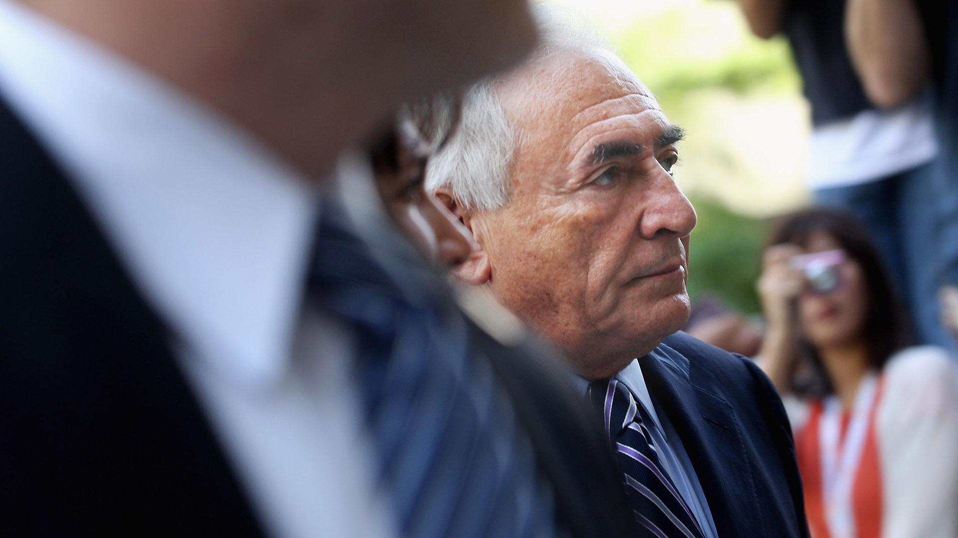 El ex director del FMI, el francés Dominique Strauss-Kahn, en Nueva York, en 2011 (Photo by Mario Tama/Getty Images)