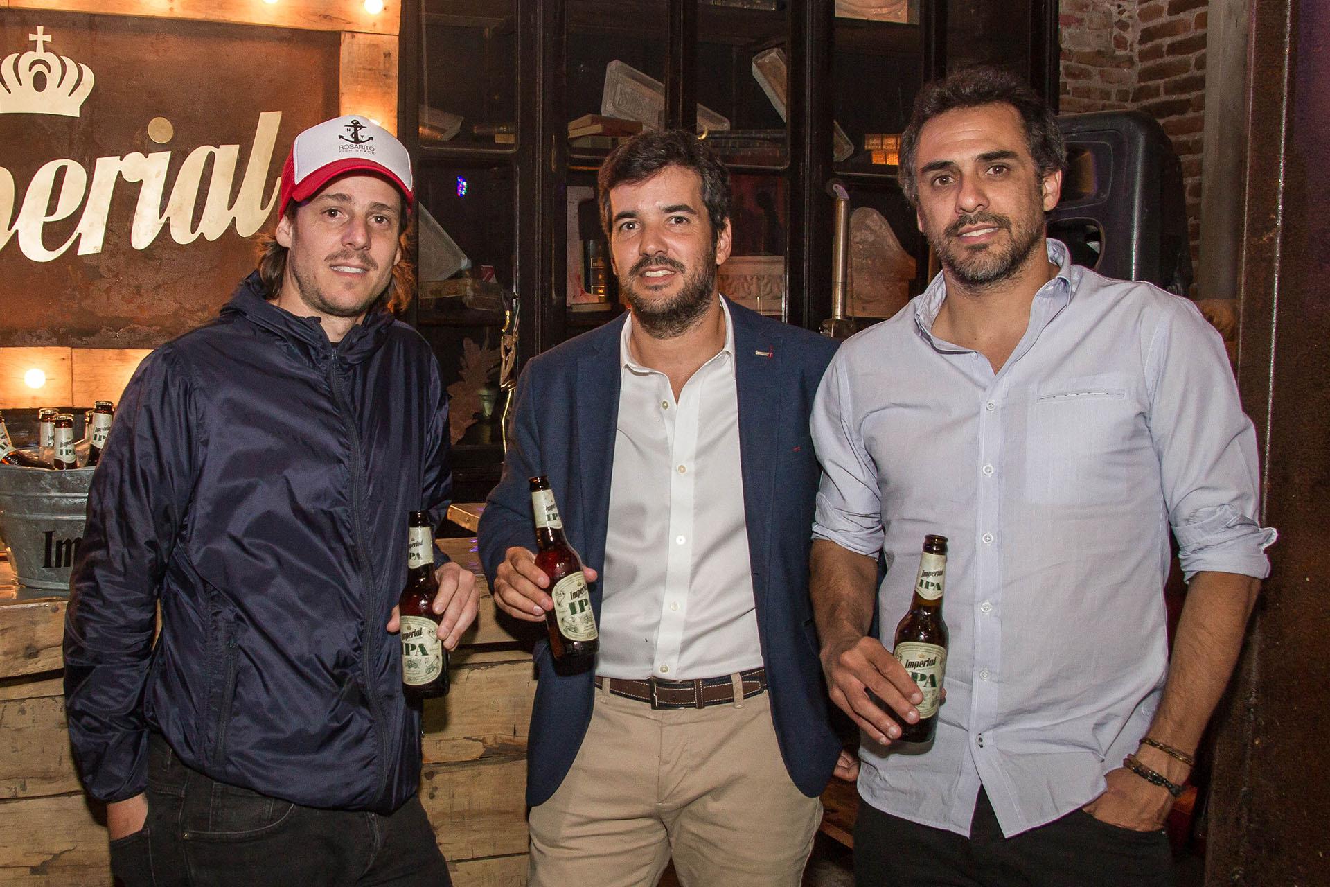 Matías Canzani, Brand Grouper de CCU junto a Gastón Gaudio y Mariano Zabaleta.