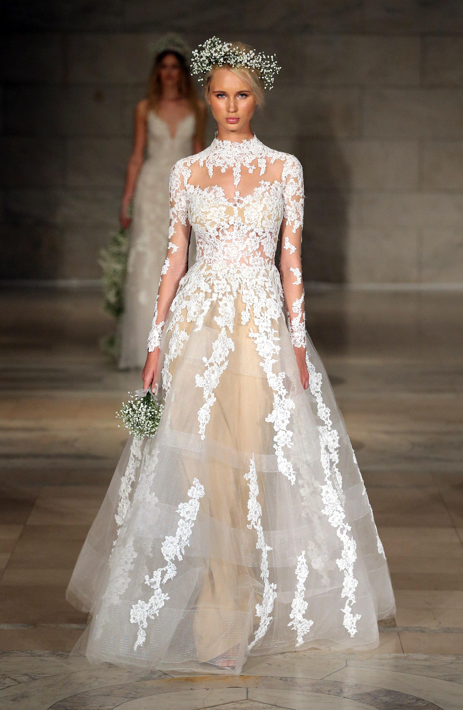 Se llevó a cabo una nueva edición del Bridal Fashion Week en Nueva York. Los exponentes nupciales más importantes presentaron sus creaciones que serán tendencia en el 2018 (Photo by JP Yim/Getty Images for Reem Acra)