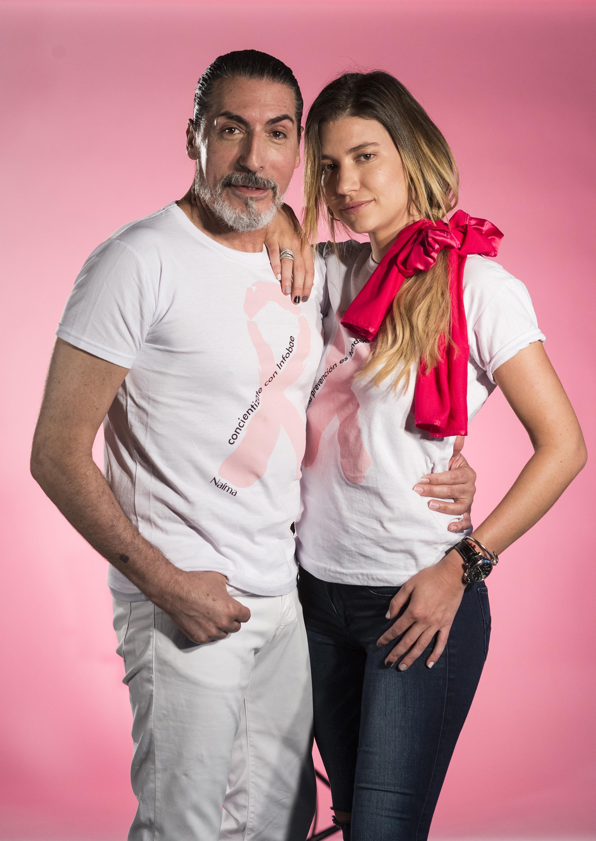 Cesár Juricich y Angie Landaburu compartieron escenario