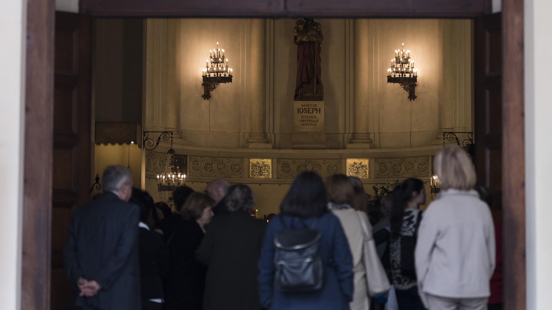 Sus restos fueron llevados a la parroquia Patrocinio de San José