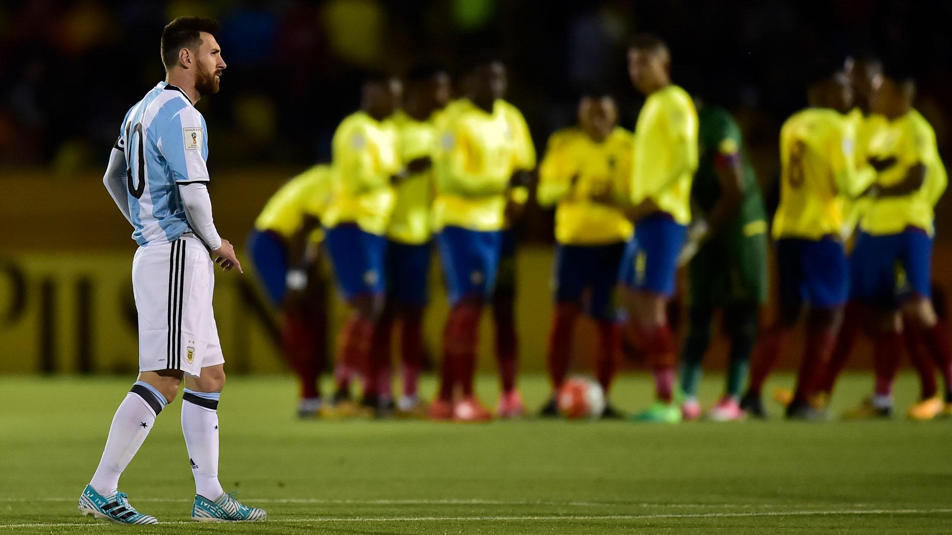 Ecuador sorprendió a la Argentina a los 40 segundos de iniciado el partido (AFP)