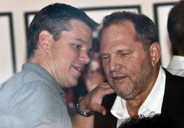Matt Damon junto a Harvey Weinstein
