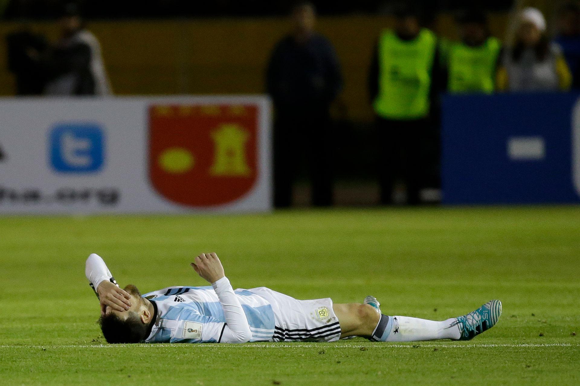 La dureza del partido fue percibida por Lionel Messi