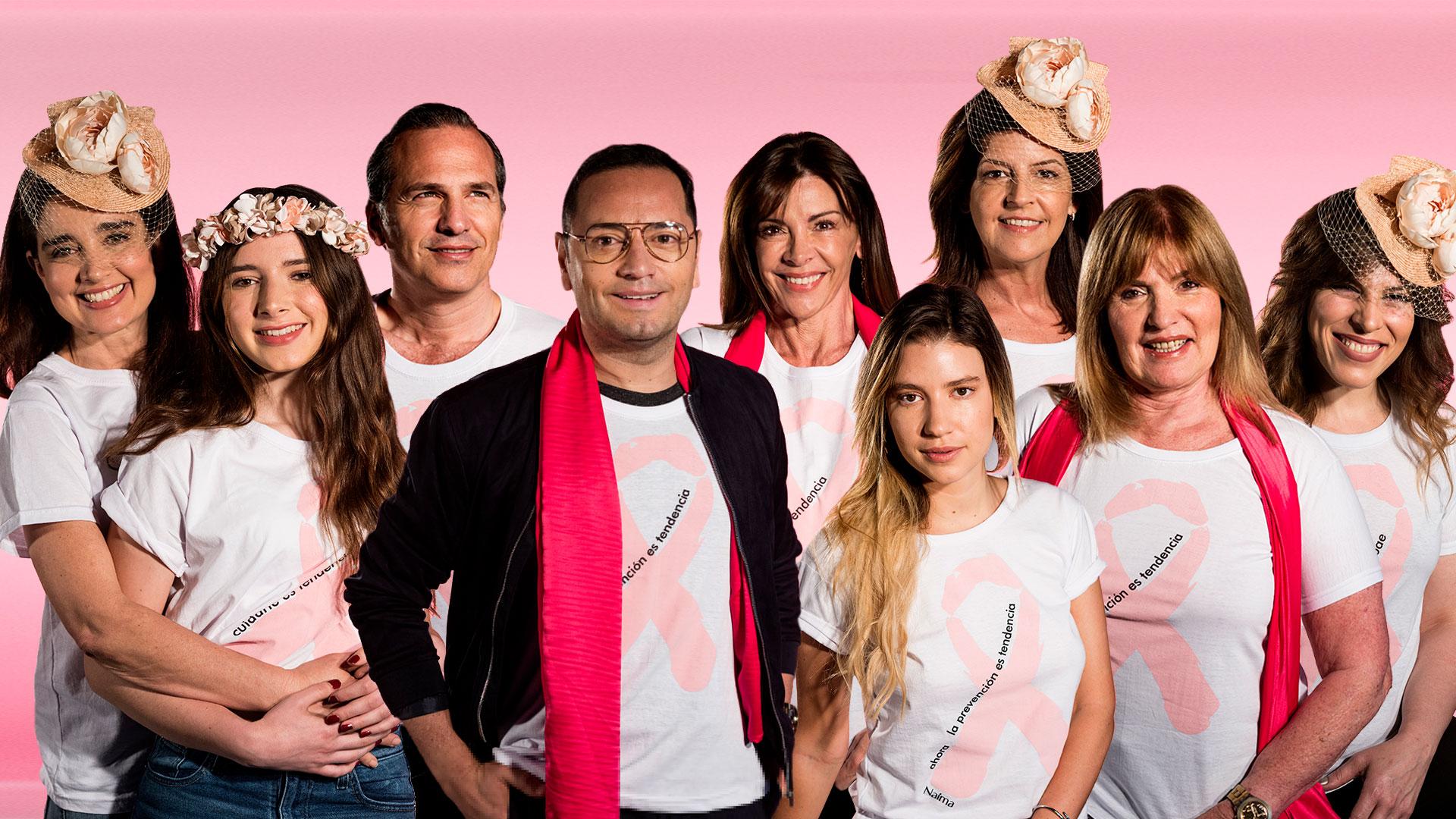 En una convocatoria masiva, Infobae realizó una espectacular campaña de concientización en la lucha contra el cáncer de mama. Referentes del mundo lifestyle fueron los protagonistas (Gustavo Saiegh)