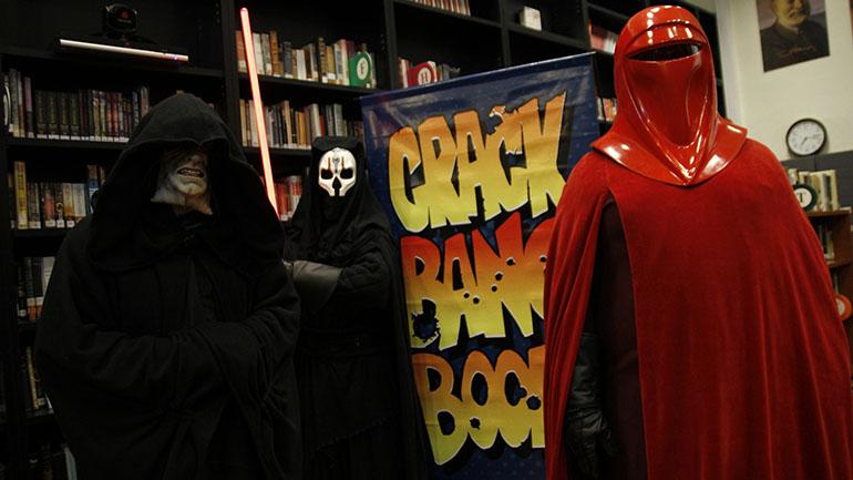 Fans de Star Wars en la convención: cosplay de alto nivel.
