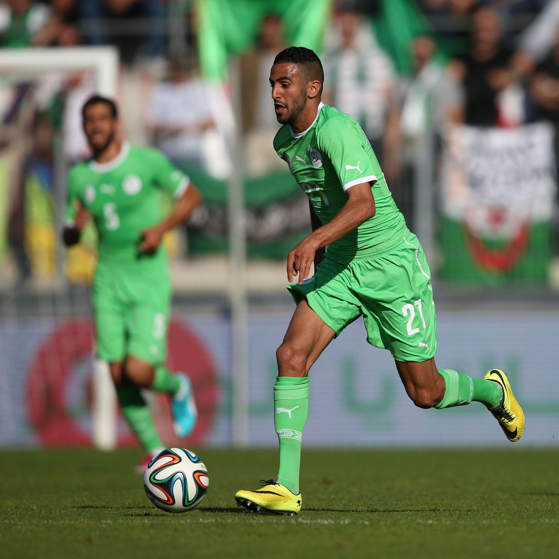 Mahrez, con la casaca de Argelia (Getty Images)