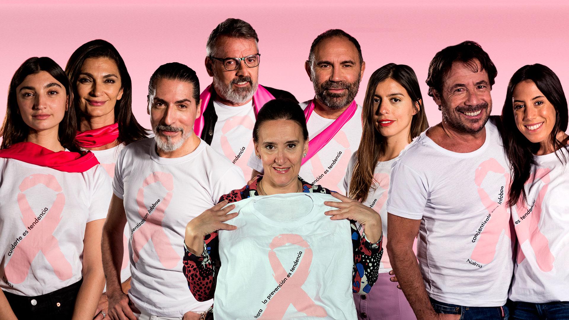 Infobae se sumó a la cruzada global contra el cáncer de mama. Realizó una multitudinaria campaña con figuras del mundo lifestyle