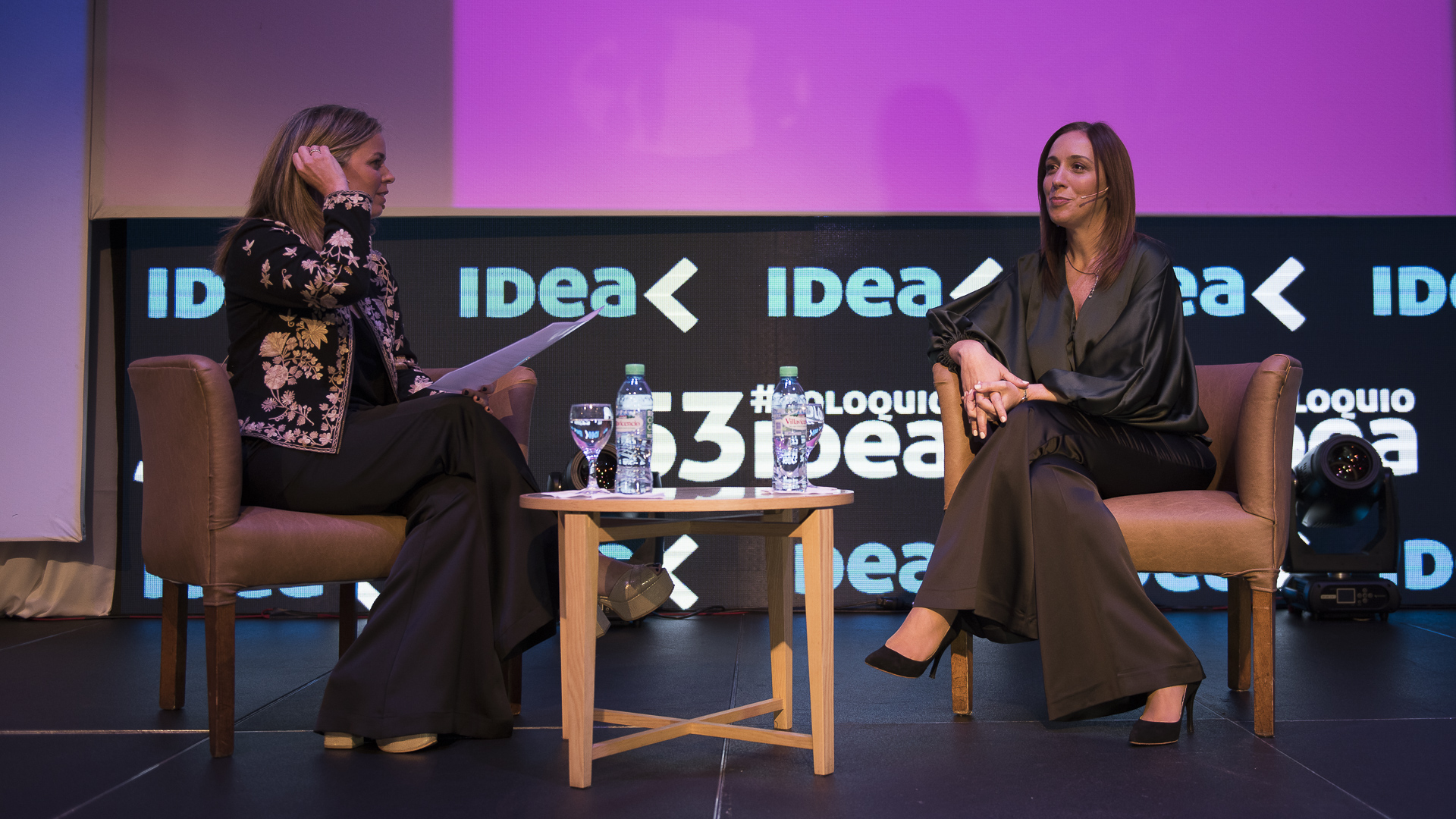 La Gobernadora María Eugenia Vidal entrevistada por Rosario Algelt la Directora de Idea y Gerente General de LATAM