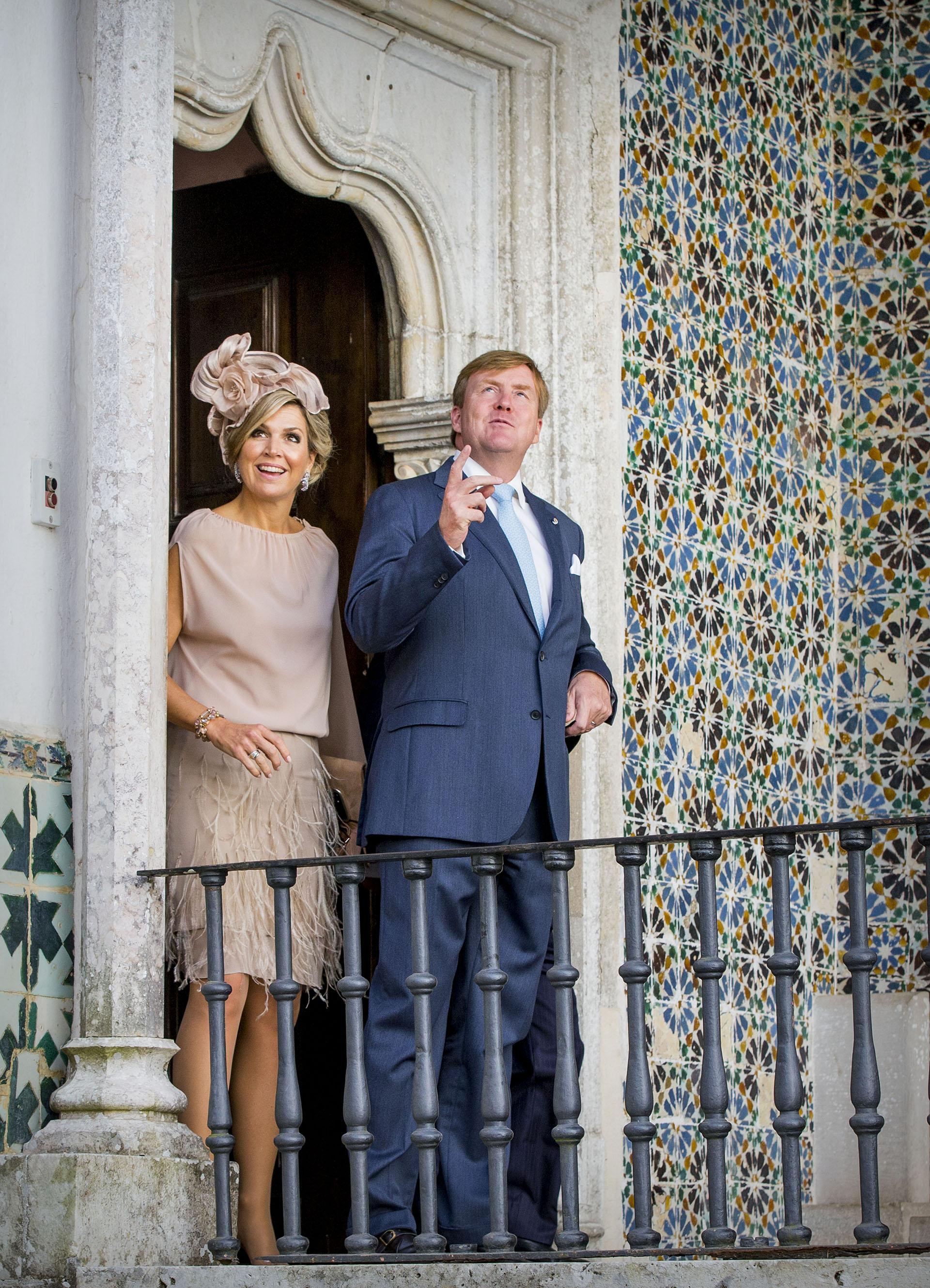 El fabuloso look de Máxima en su visita al Palacio da Vila