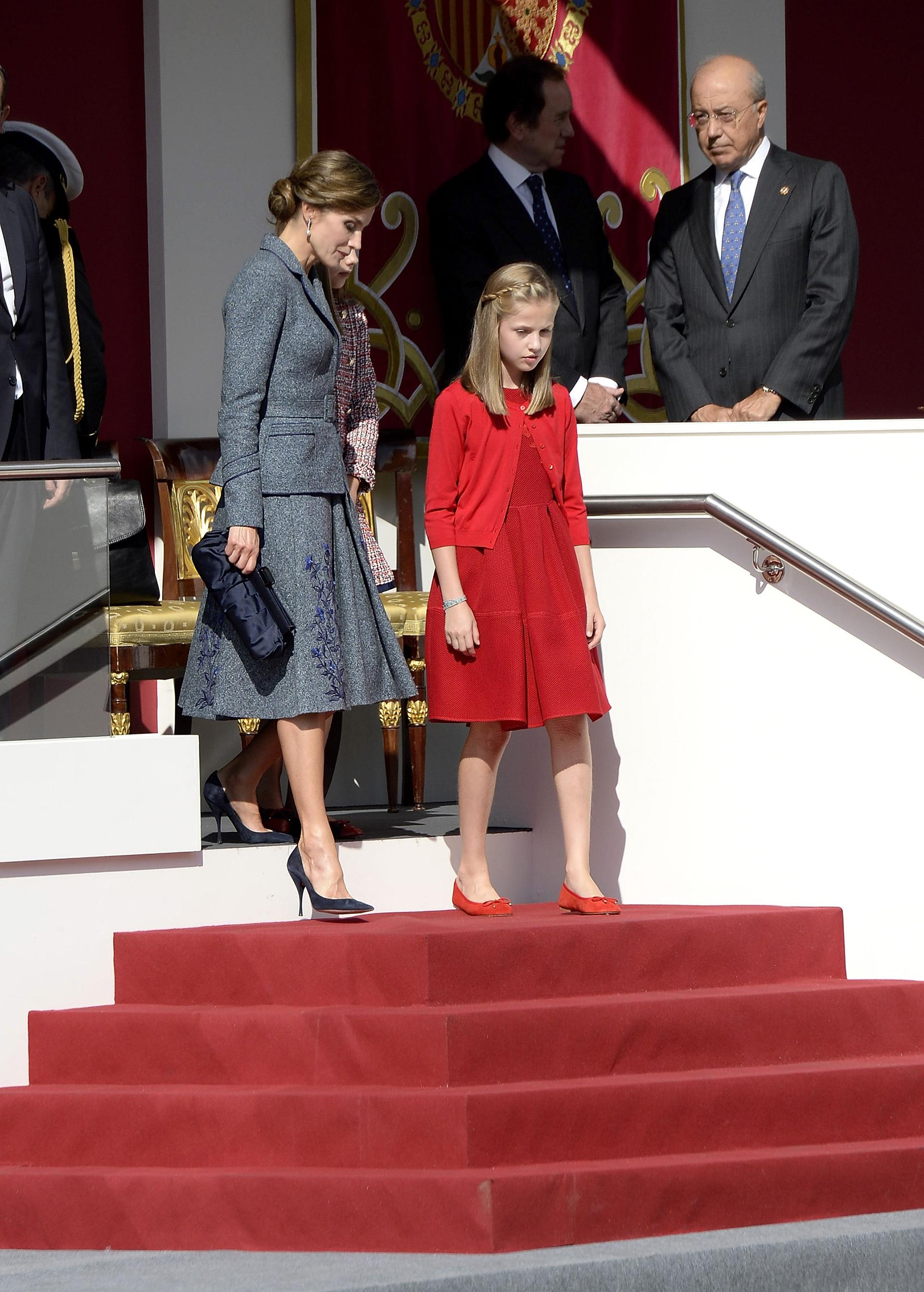 Letizia con su hija mayor, la princesa Leonor, futura reina de España