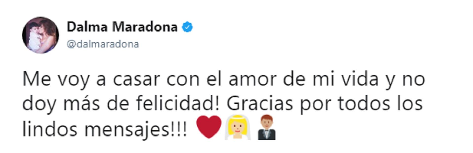 La actriz manifestó su felicidad a través de las redes sociales