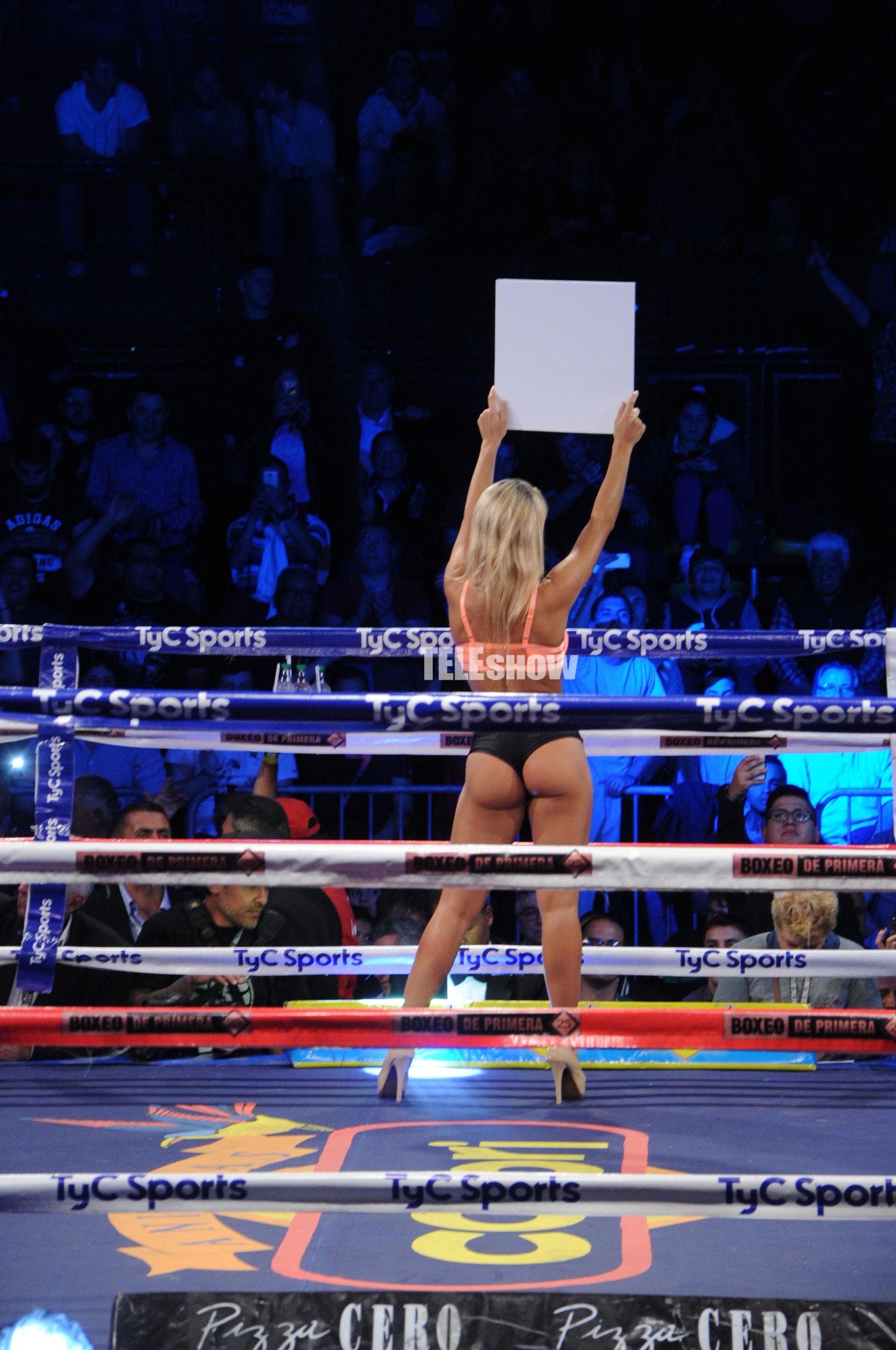Sol Pérez lució su cuerpazo en el ring de Obras