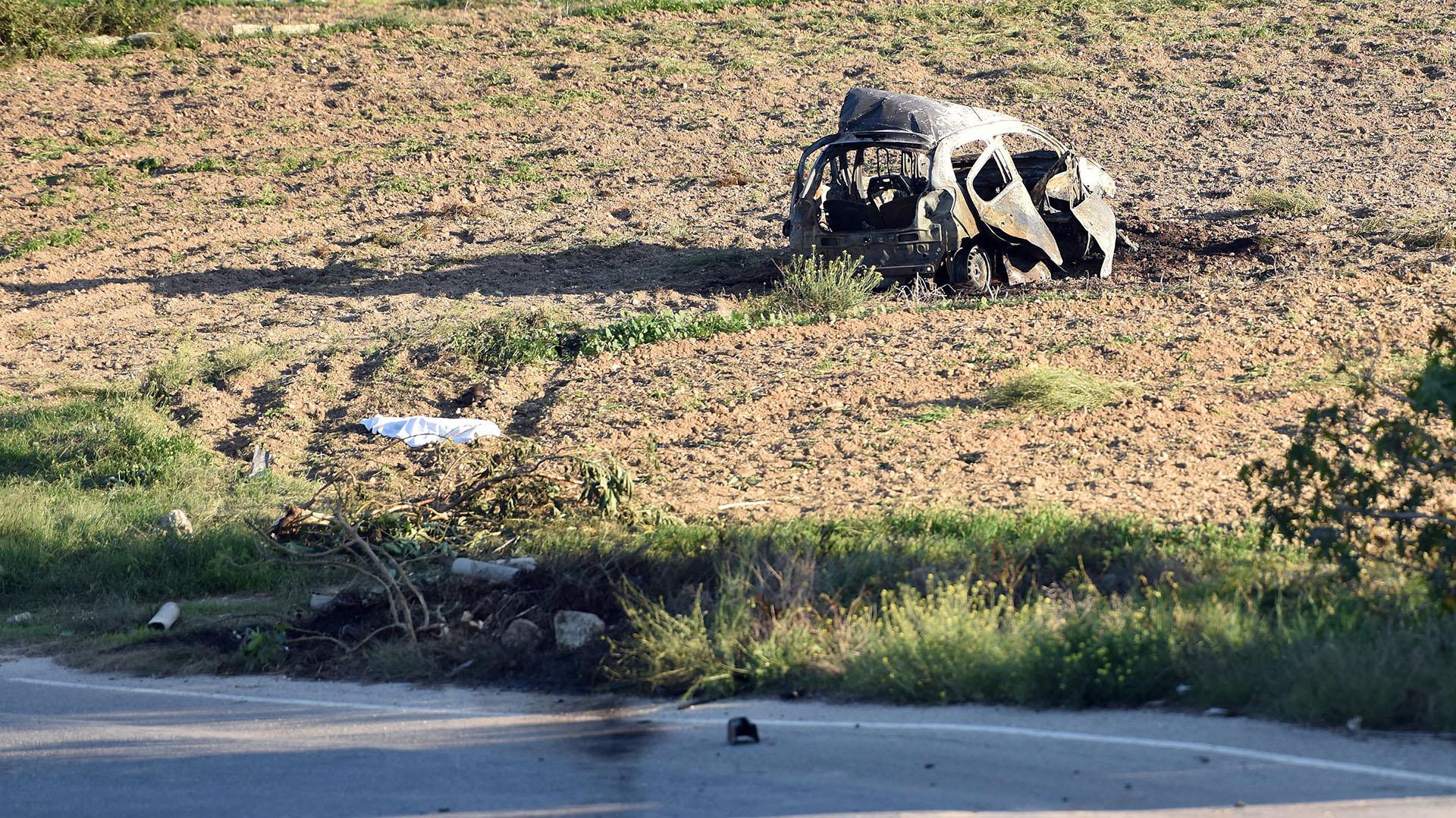 Daphne Caruana Galizia fue asesinada tras la explosión de su auto por una bomba (AP)