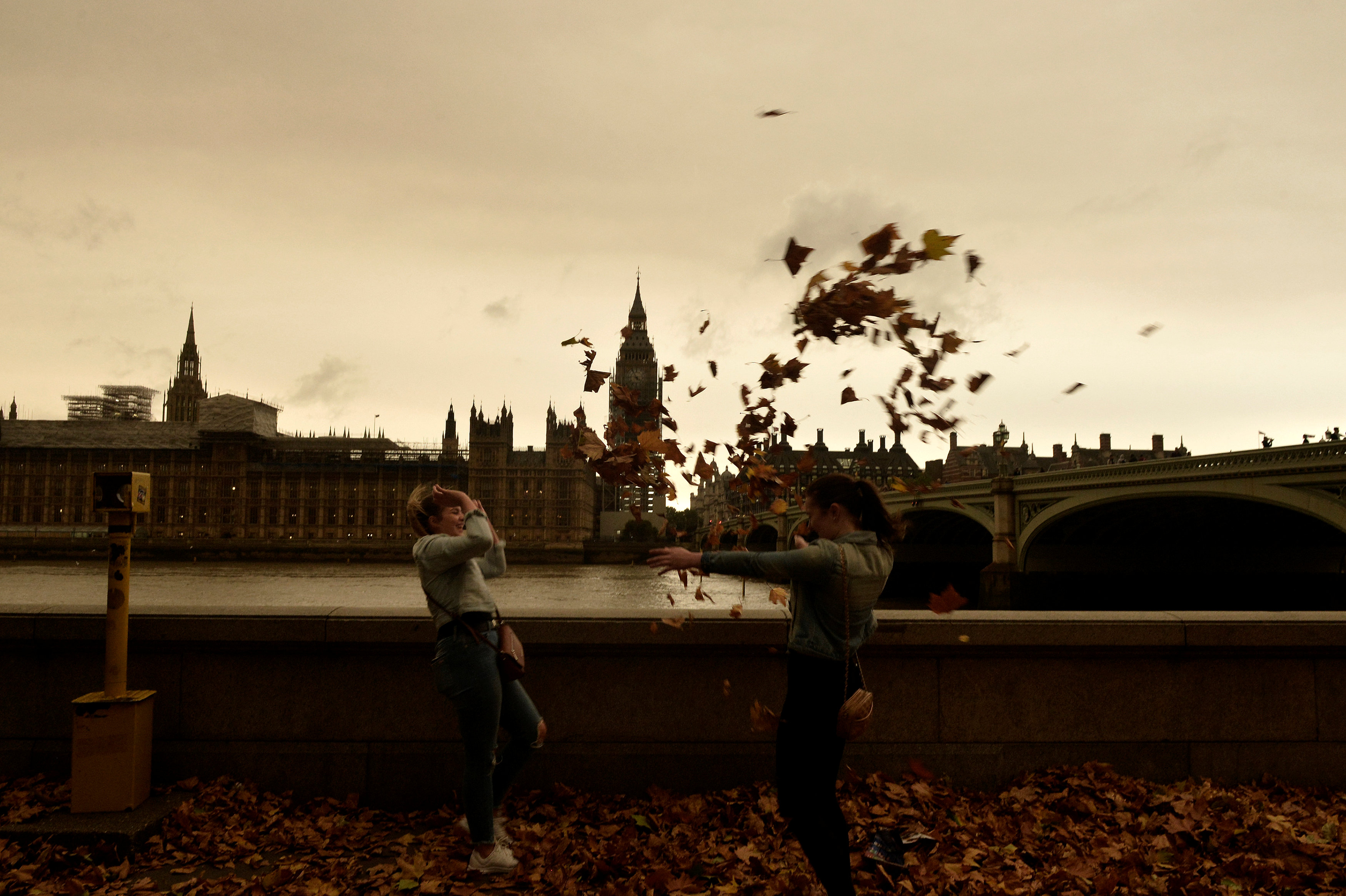 El cielo sobre Westminster (Reuters/Mary Turner)