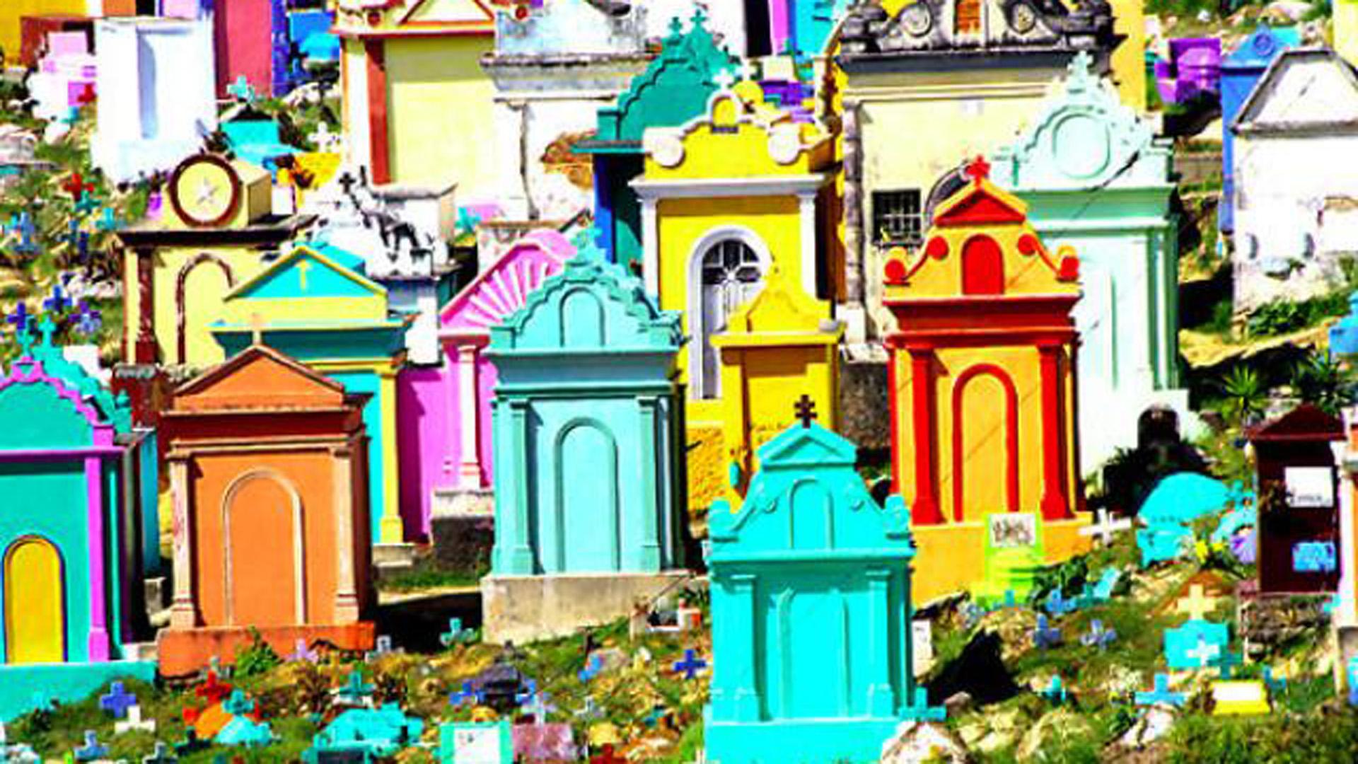 Así es el cementerio más colorido del mundo - Infobae