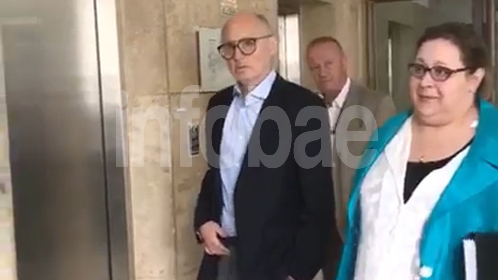 Timerman en los Tribunales Federales de Comodoro Py cuando declaró por la causa de encubrimiento del atentado a la AMIA.