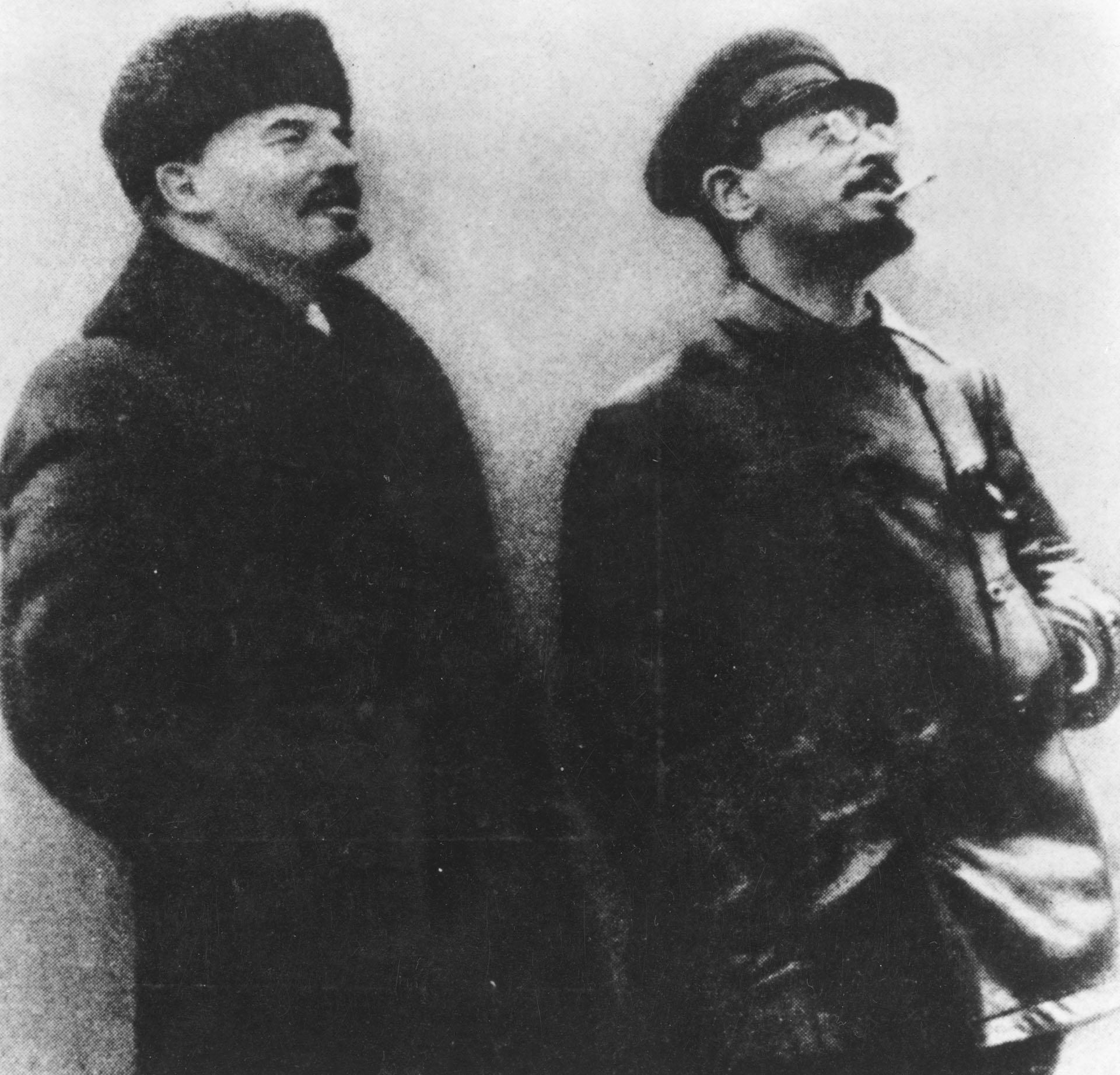 Lenin y Trotsky durante la Revolución Rusa