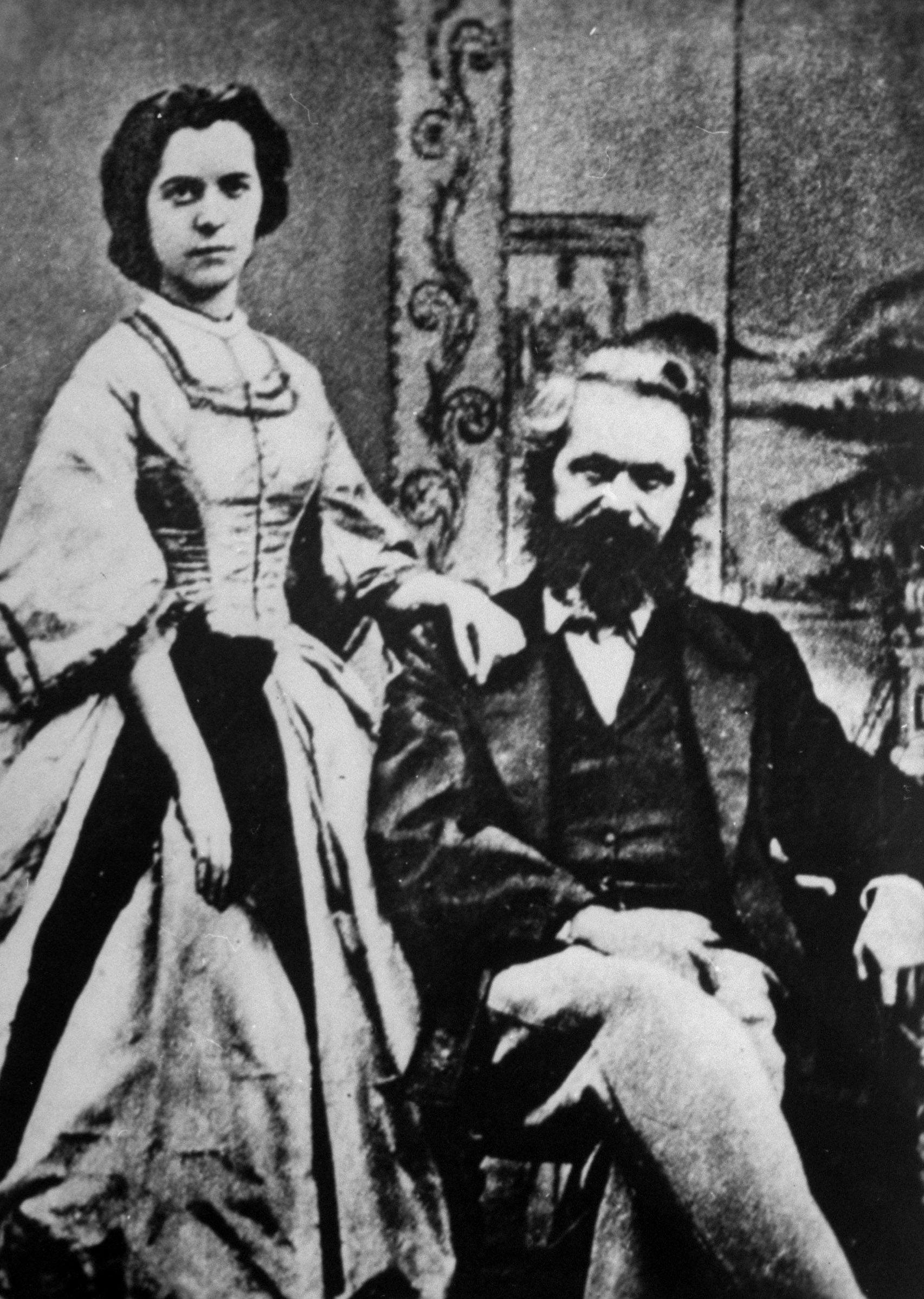 Jenny von Westphalen y Karl Marx (Foto: Getty Images)