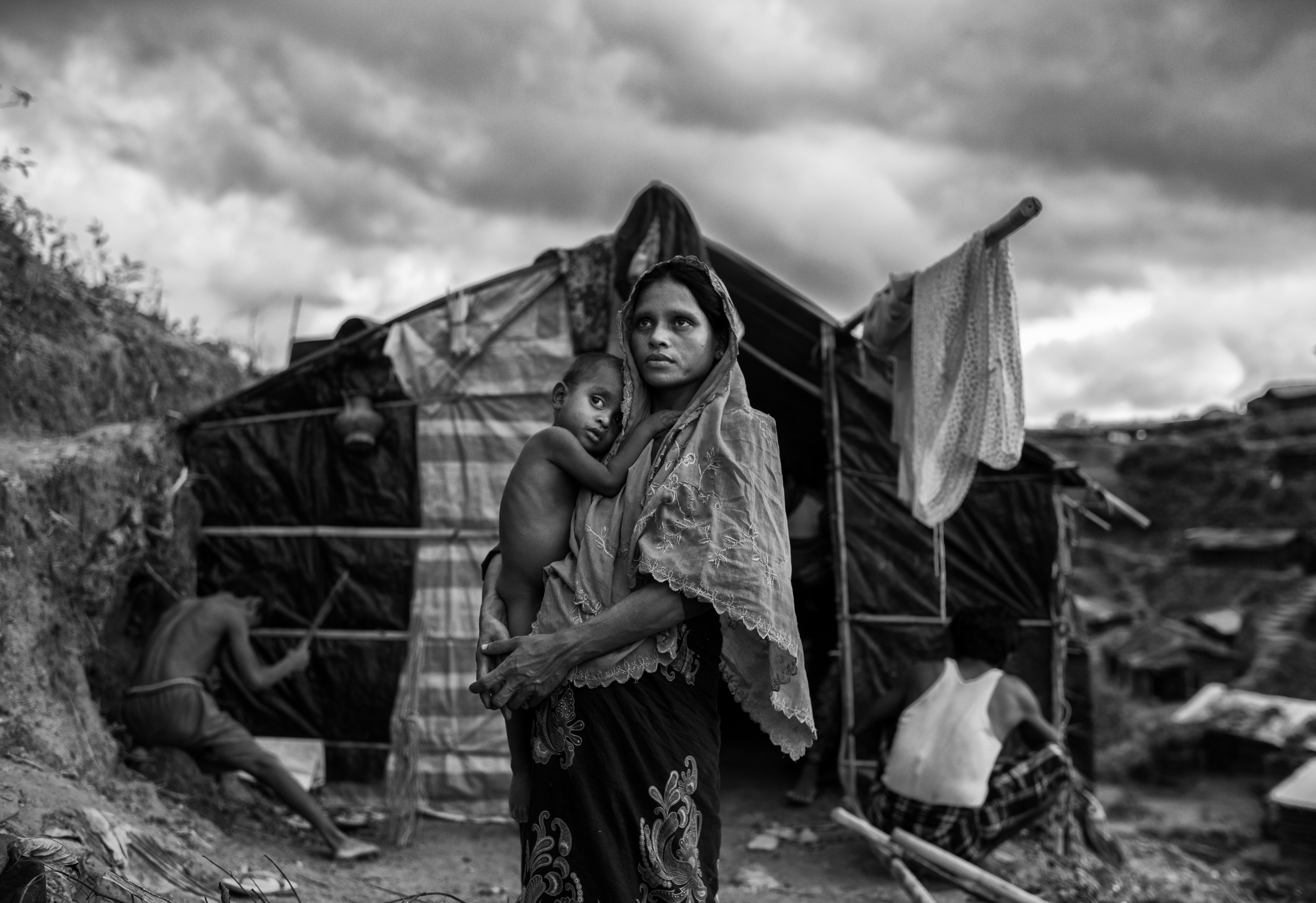 Una refugiada rohinyá en el campo de refugiados de Balukali (Kevin Frayer/Getty Images)