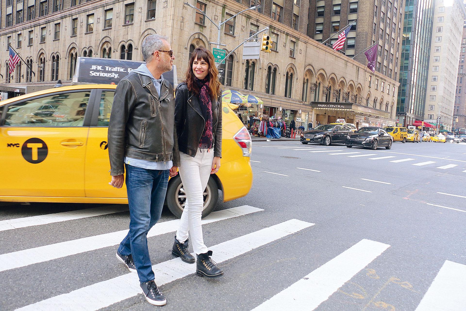 Jorge Rial y Romina Pereiro realizaron una escapada romántica a Nueva York. El conductor y la nutricionista están en pareja desde hace cinco meses (Gente)