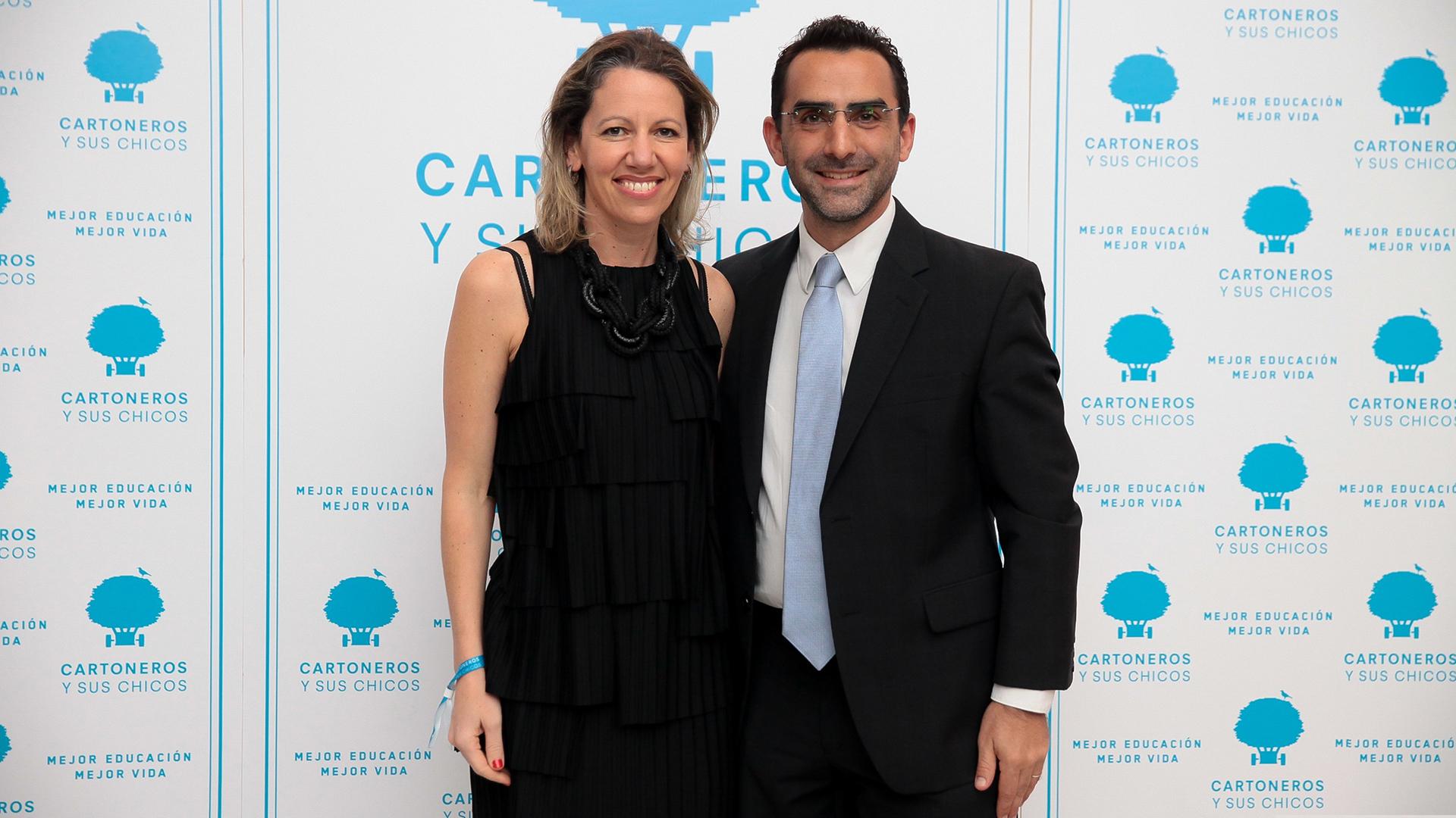 La artista plástica y arquitecta, Luciana Levinton, con su marido
