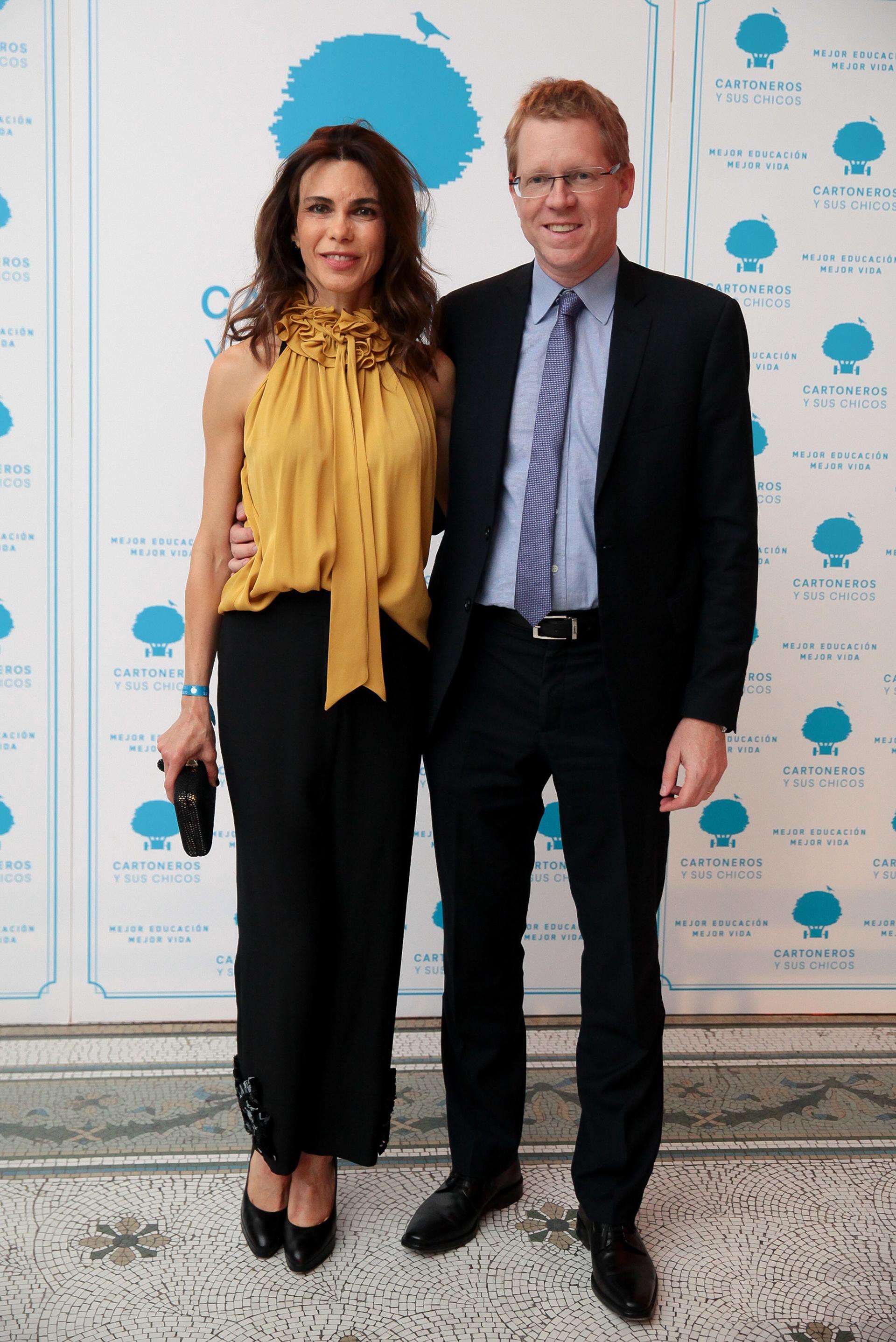 El presidente del Banco Provincia, Juan Curutchet, con su esposa