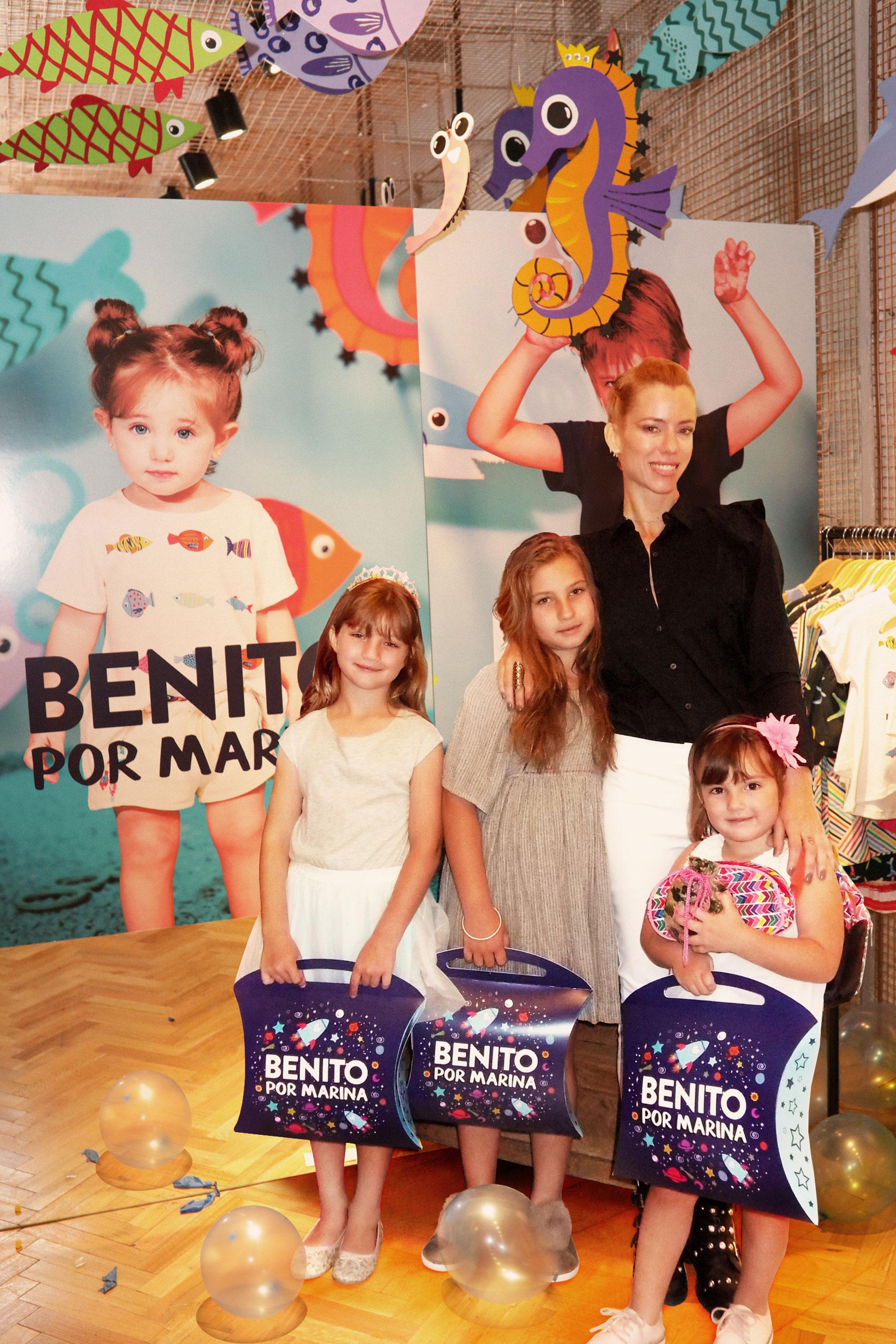 Nicole Neumann y sus hijas Indiana, Allegra y Sienna, invitadas de lujo