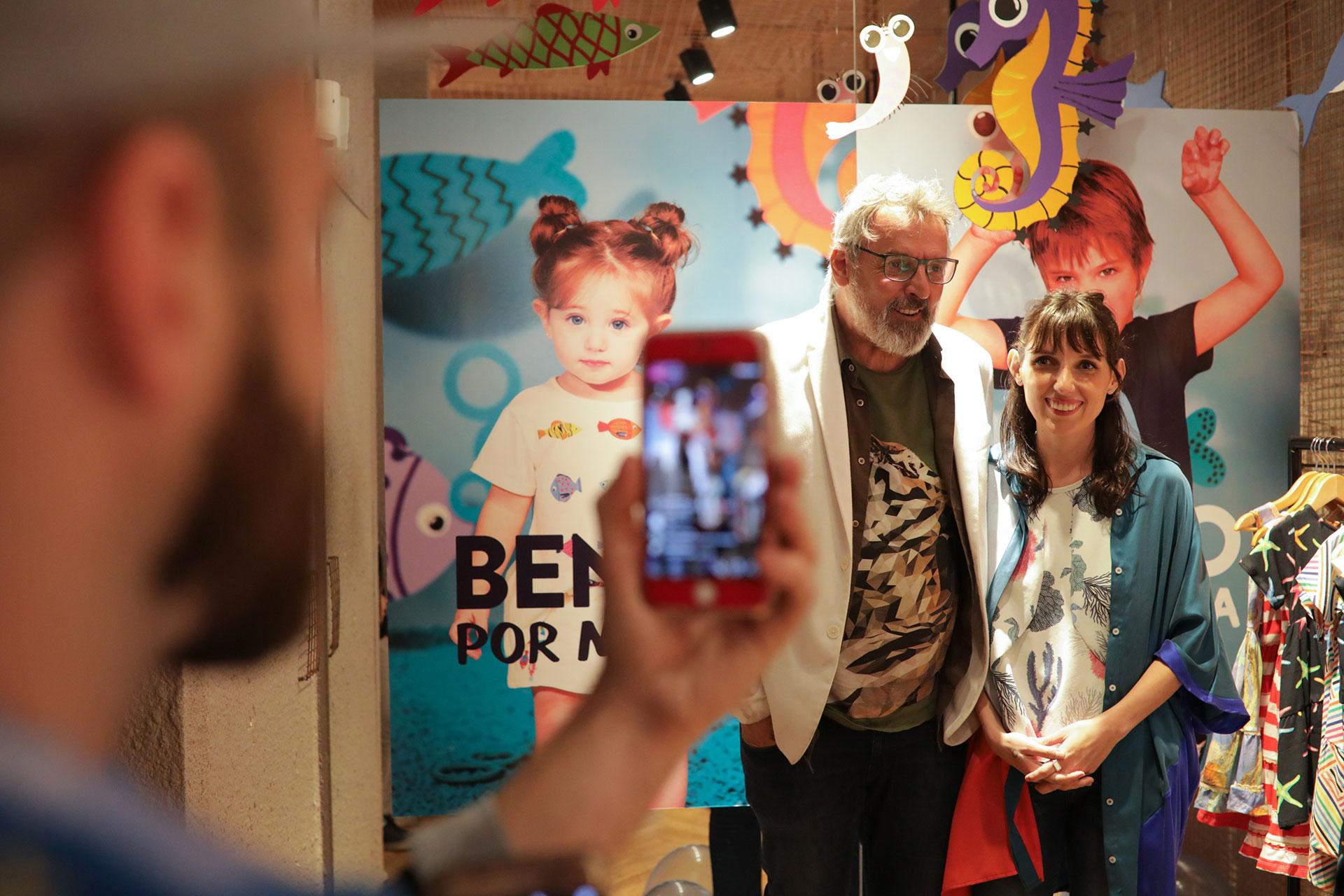 Benito y su hija Marina en la presentación de su colección cápsula en Nordelta