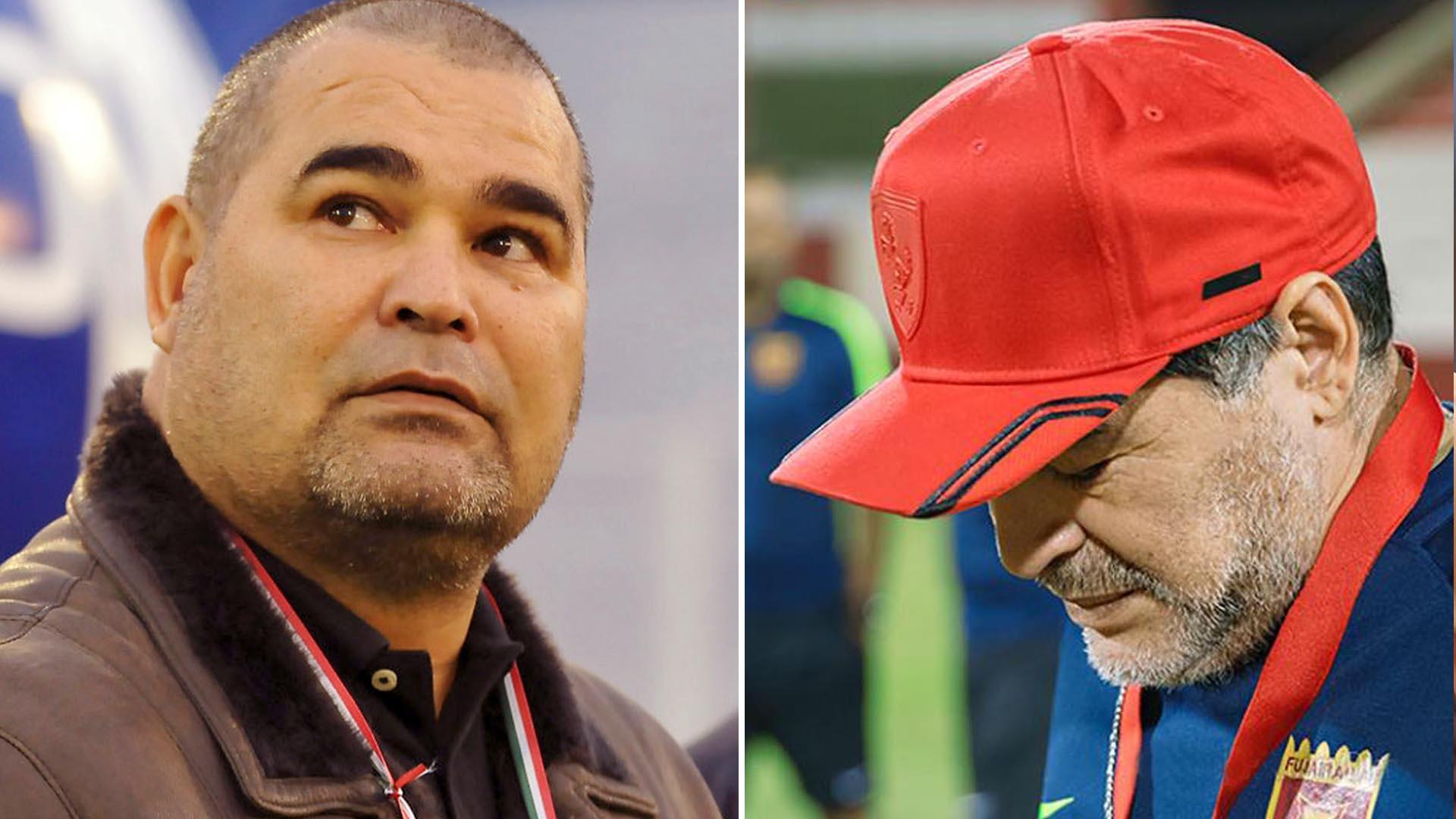 José Luis Chilavert y Diego Maradona