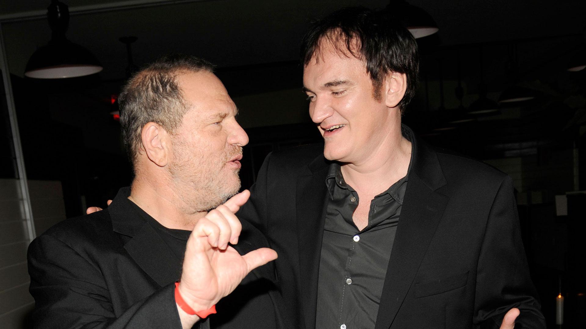 Harvey Weinsten y Quentin Tarantino, quien confesó que sabía quién era Weinstein (Getty Images)